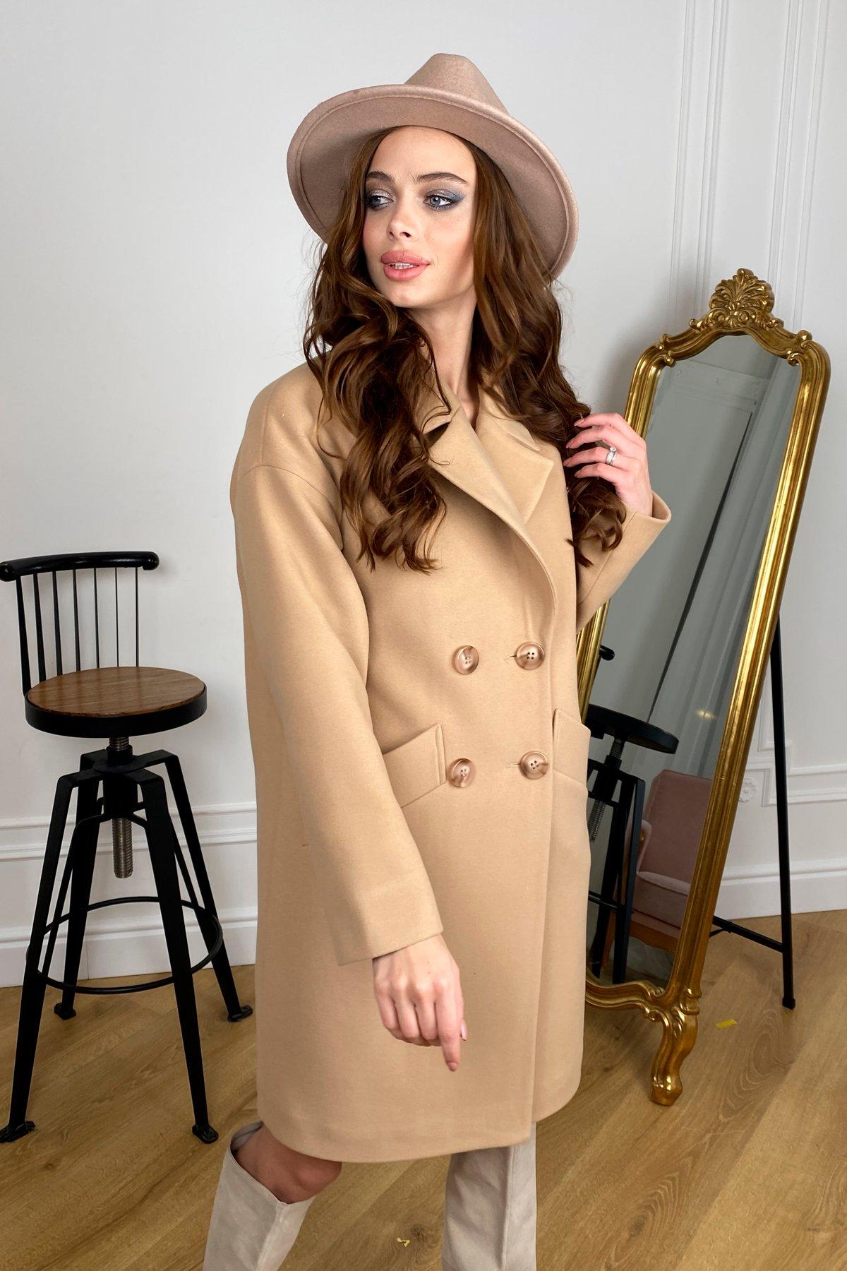 Сенсей   пальто зимнее из кашемира 10202 АРТ. 46500 Цвет: Кемел - фото 2, интернет магазин tm-modus.ru