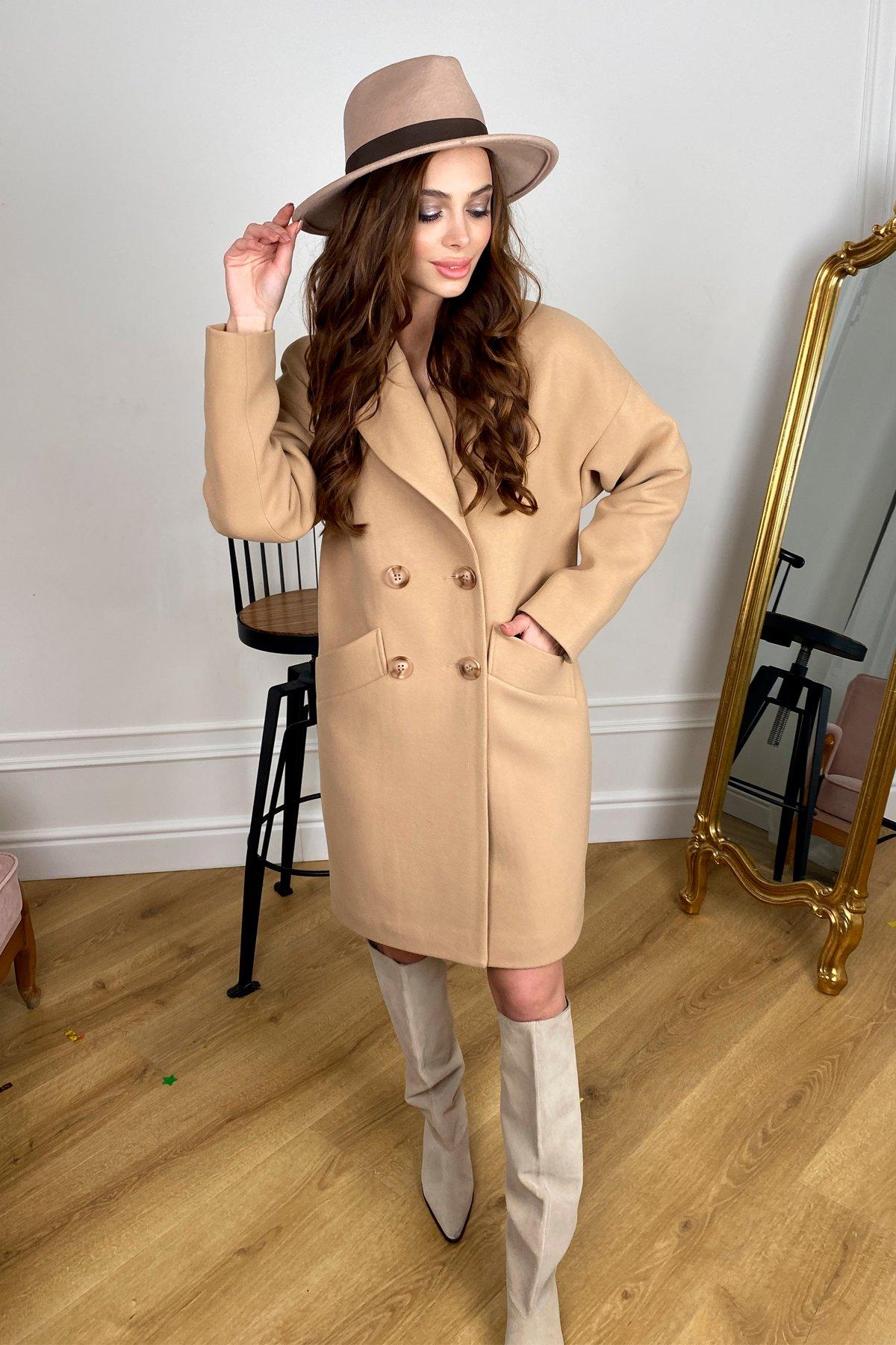 Сенсей   пальто зимнее из кашемира 10202 АРТ. 46500 Цвет: Кемел - фото 5, интернет магазин tm-modus.ru
