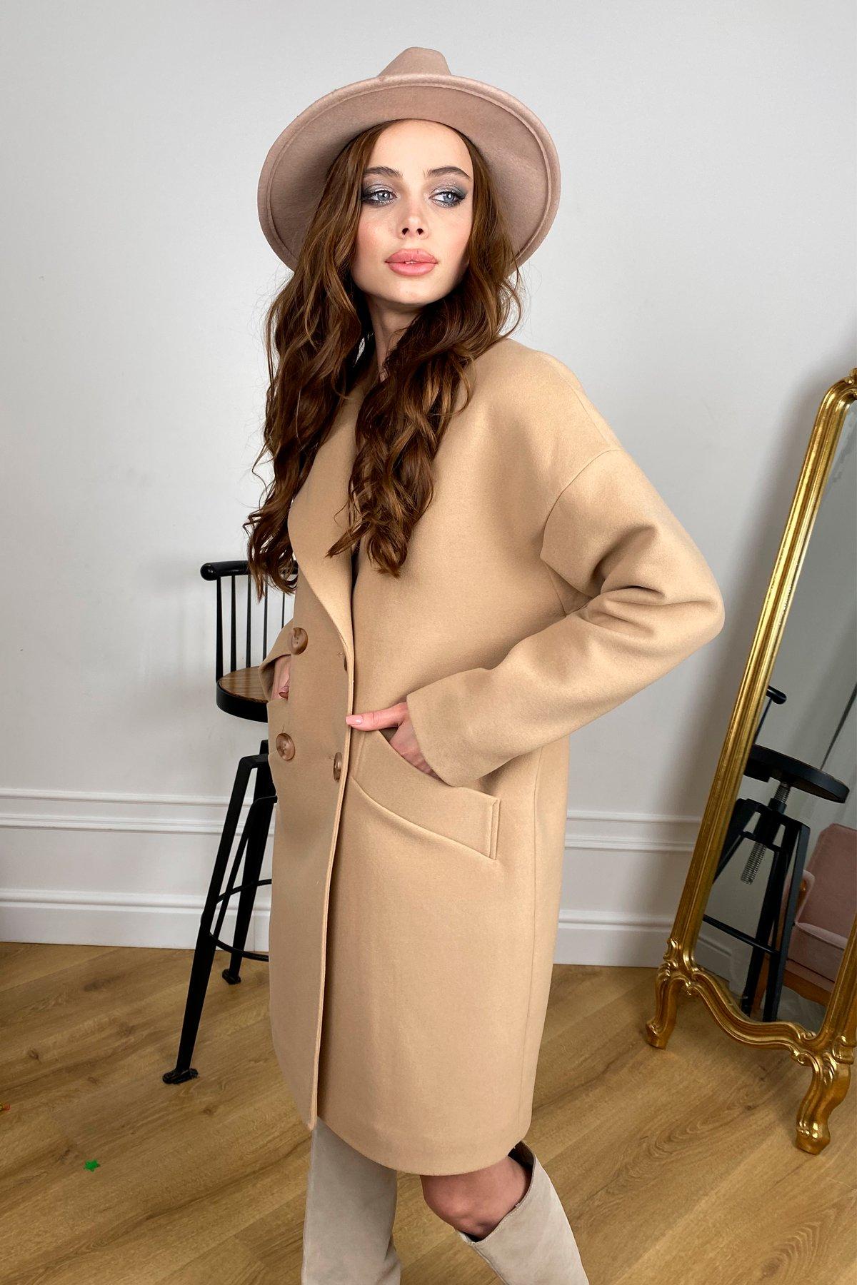 Сенсей   пальто зимнее из кашемира 10202 АРТ. 46500 Цвет: Кемел - фото 6, интернет магазин tm-modus.ru
