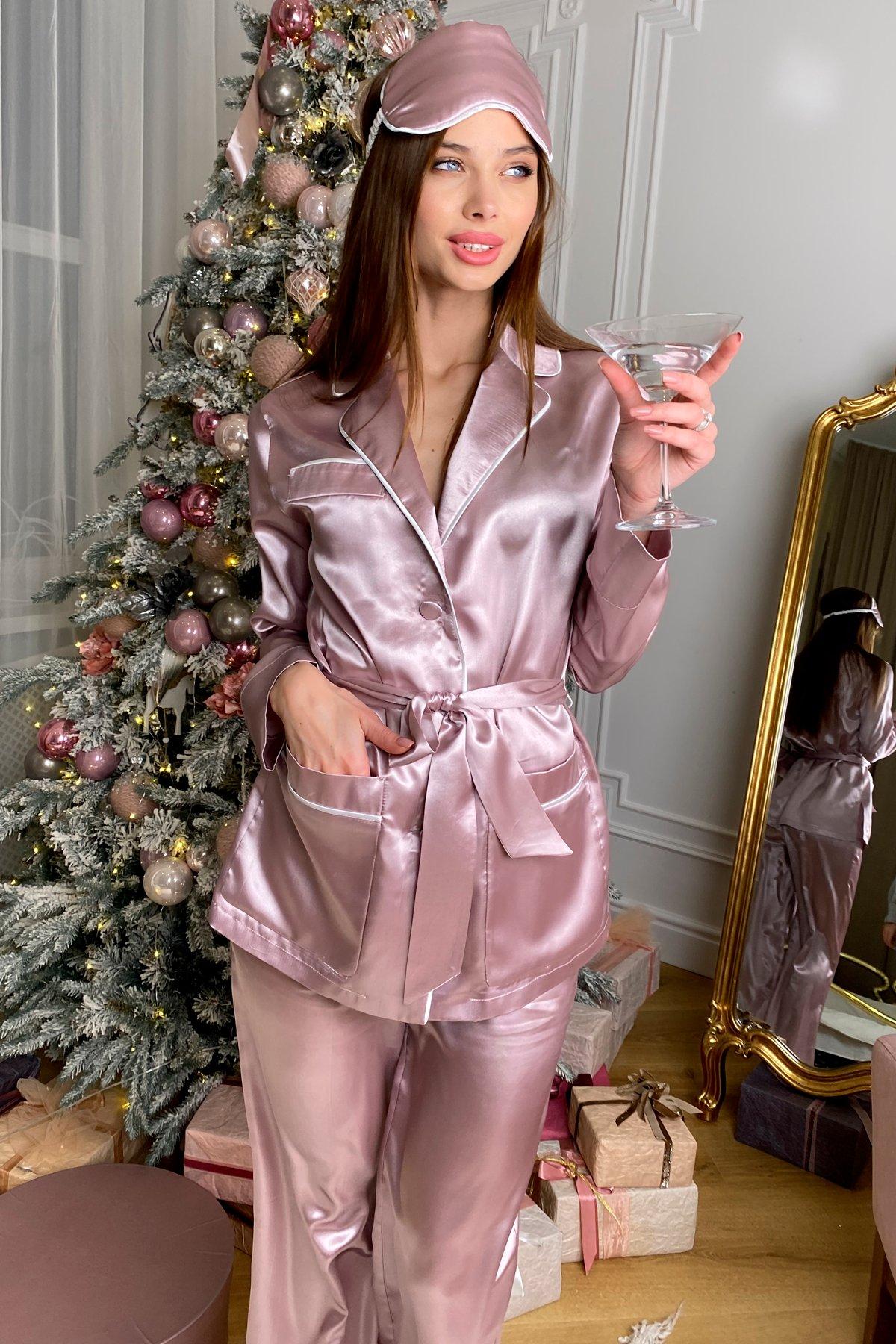 Купить женскую одежду оптом Шайн пижама из шелка 10446