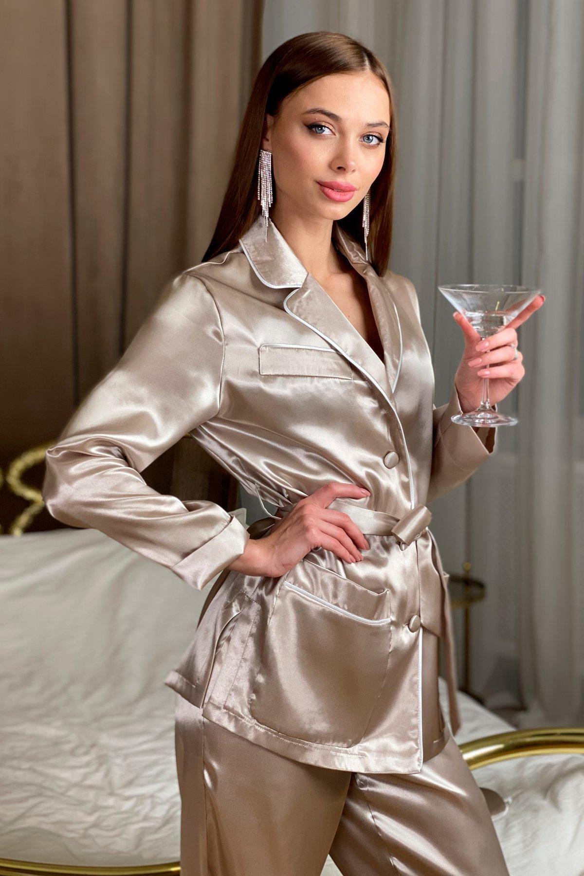Шайн пижама из шелка 10446 АРТ. 46758 Цвет: Бежевый - фото 6, интернет магазин tm-modus.ru