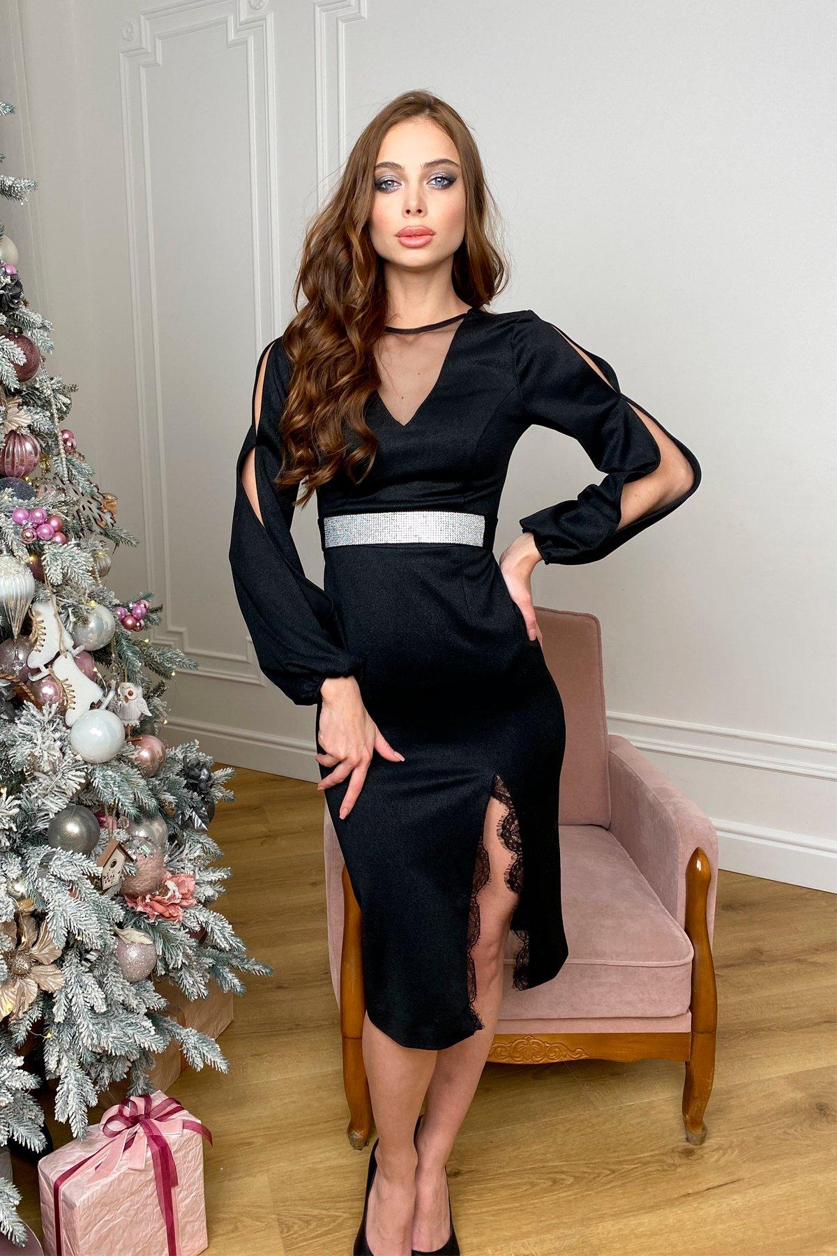 Купить платья оптом в Украине от Modus Блек платье с напылением  9704