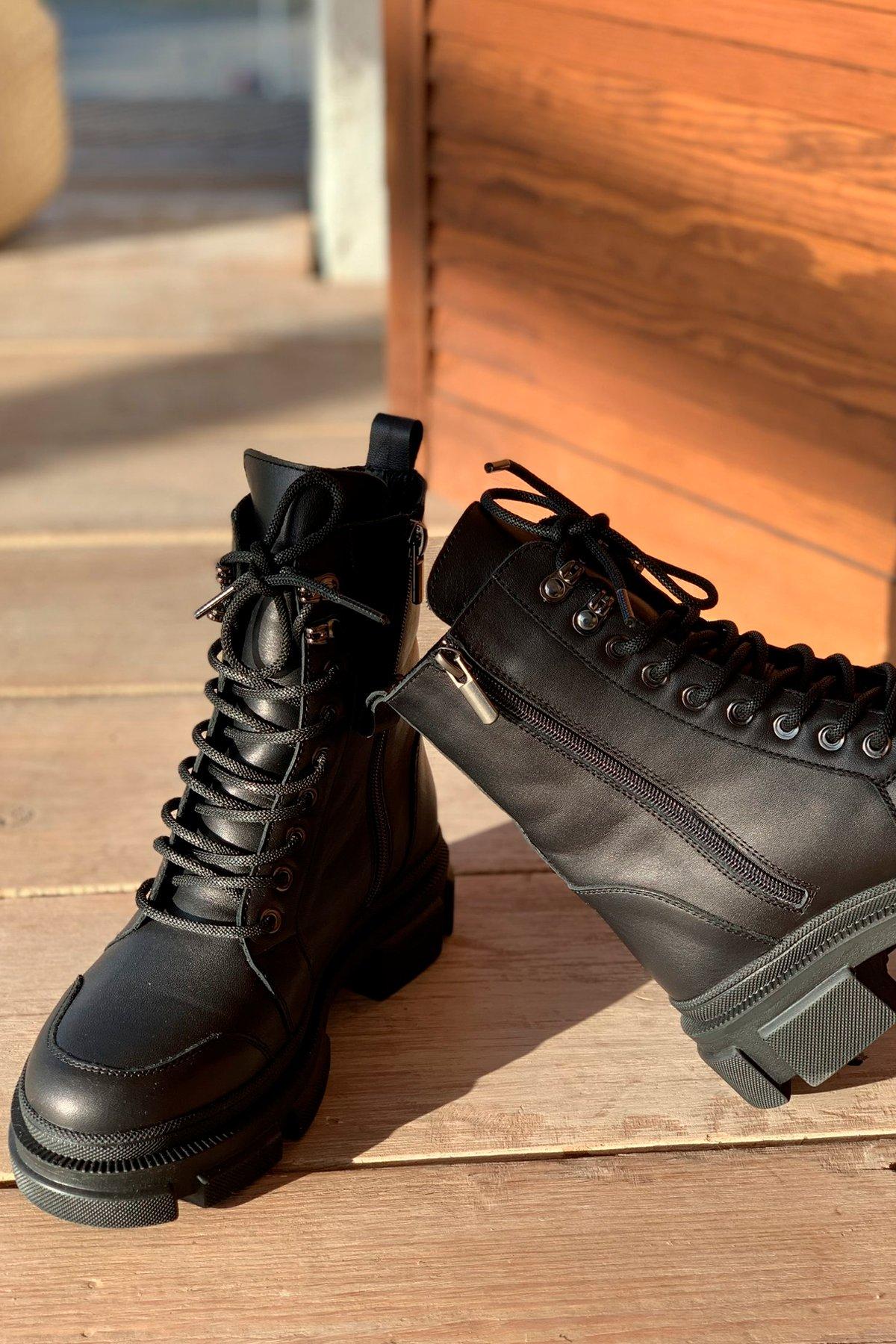 Ботинки зимние 260/7 АРТ. 46300 Цвет: Черный - фото 2, интернет магазин tm-modus.ru