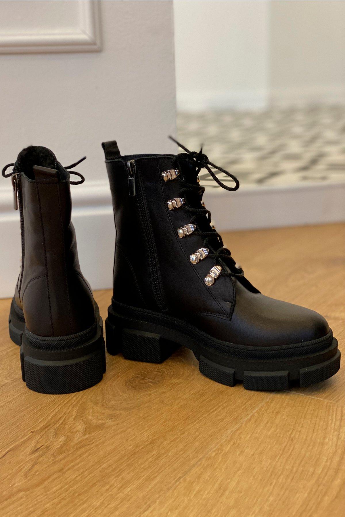 Ботинки зимние 2002 (серебро) АРТ. 46439 Цвет: Черный - фото 2, интернет магазин tm-modus.ru