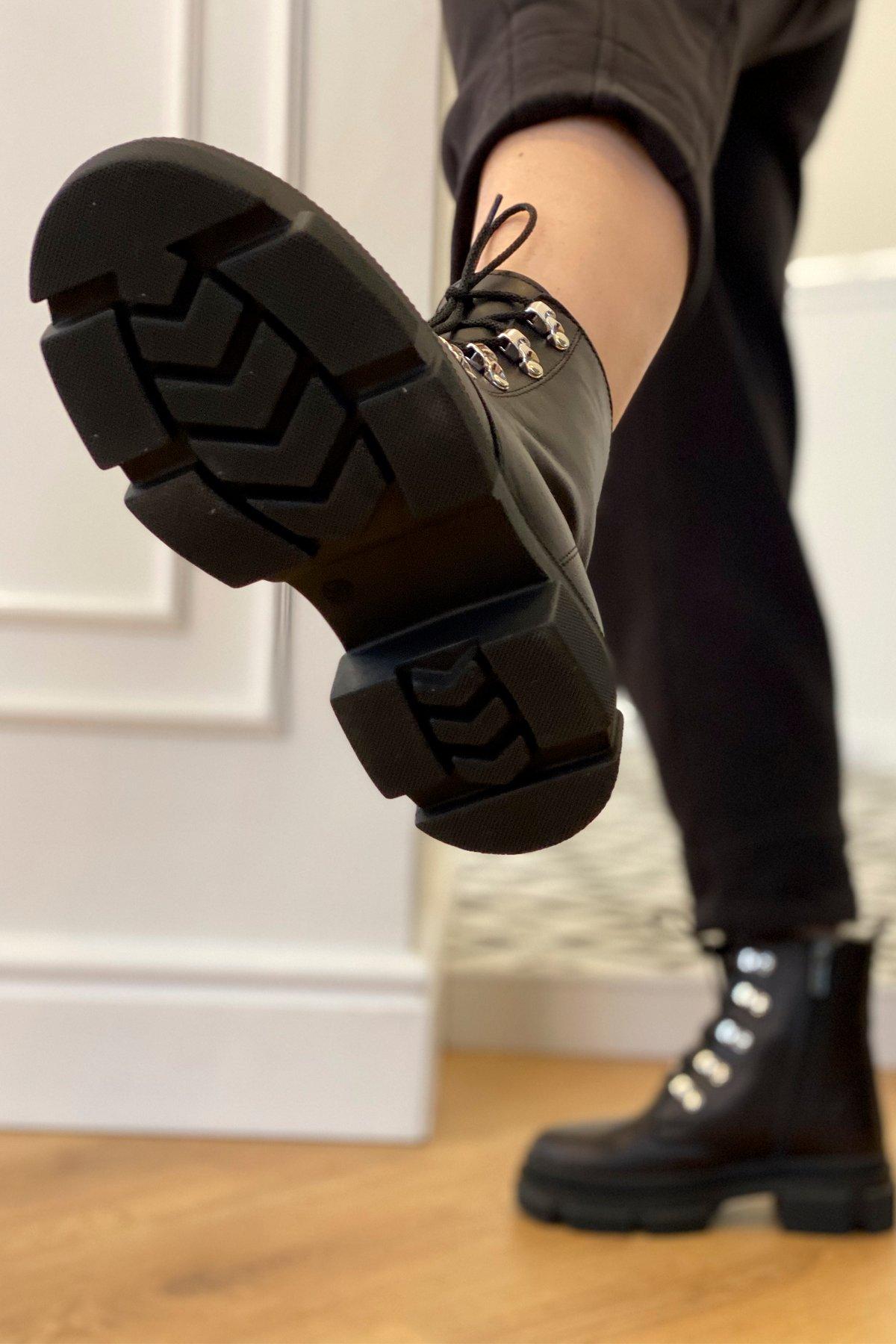 Ботинки зимние 2002 (серебро) АРТ. 46439 Цвет: Черный - фото 3, интернет магазин tm-modus.ru