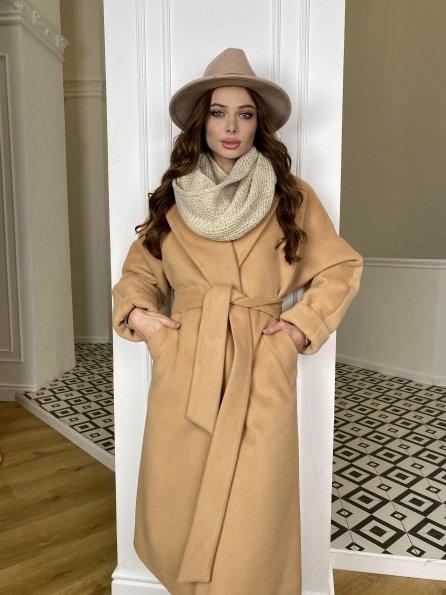 Влада зимнее пальто  из ткани ворсовка  10019 Цвет: Кемел