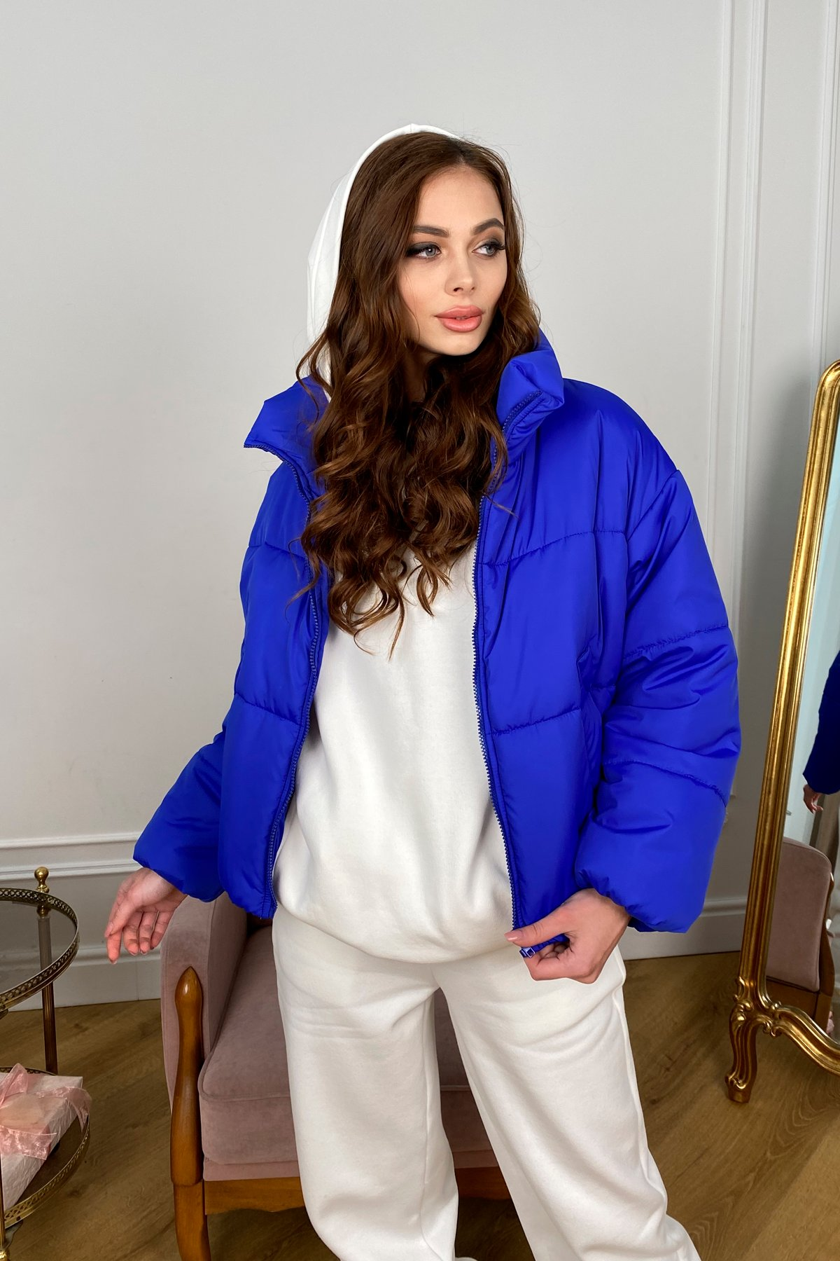 Драйв куртка из плащевой ткани 10448 АРТ. 46769 Цвет: Электрик 1052 - фото 3, интернет магазин tm-modus.ru