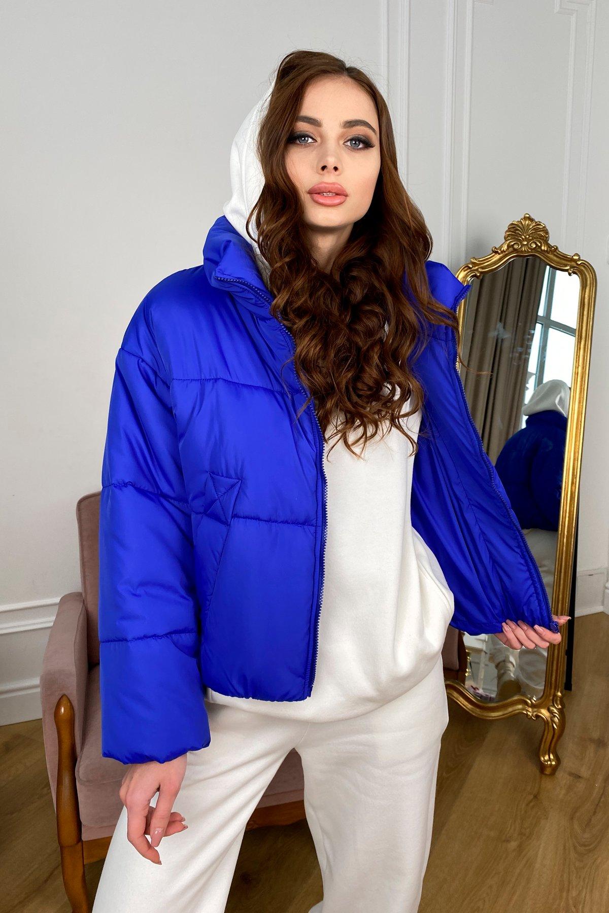 Драйв куртка из плащевой ткани 10448 АРТ. 46769 Цвет: Электрик 1052 - фото 4, интернет магазин tm-modus.ru