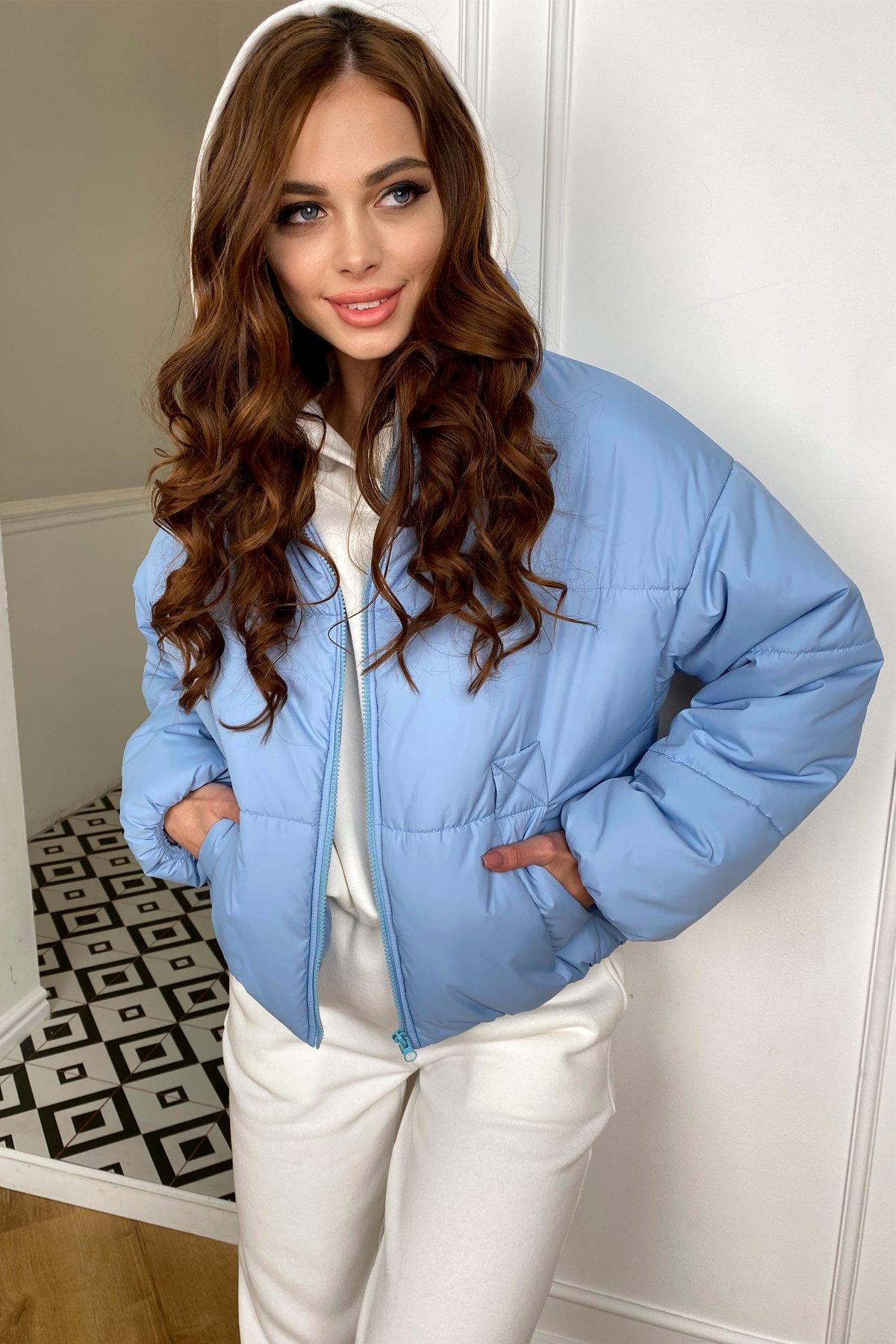 Драйв куртка из плащевой ткани 10448 АРТ. 46774 Цвет: Голубой - фото 5, интернет магазин tm-modus.ru