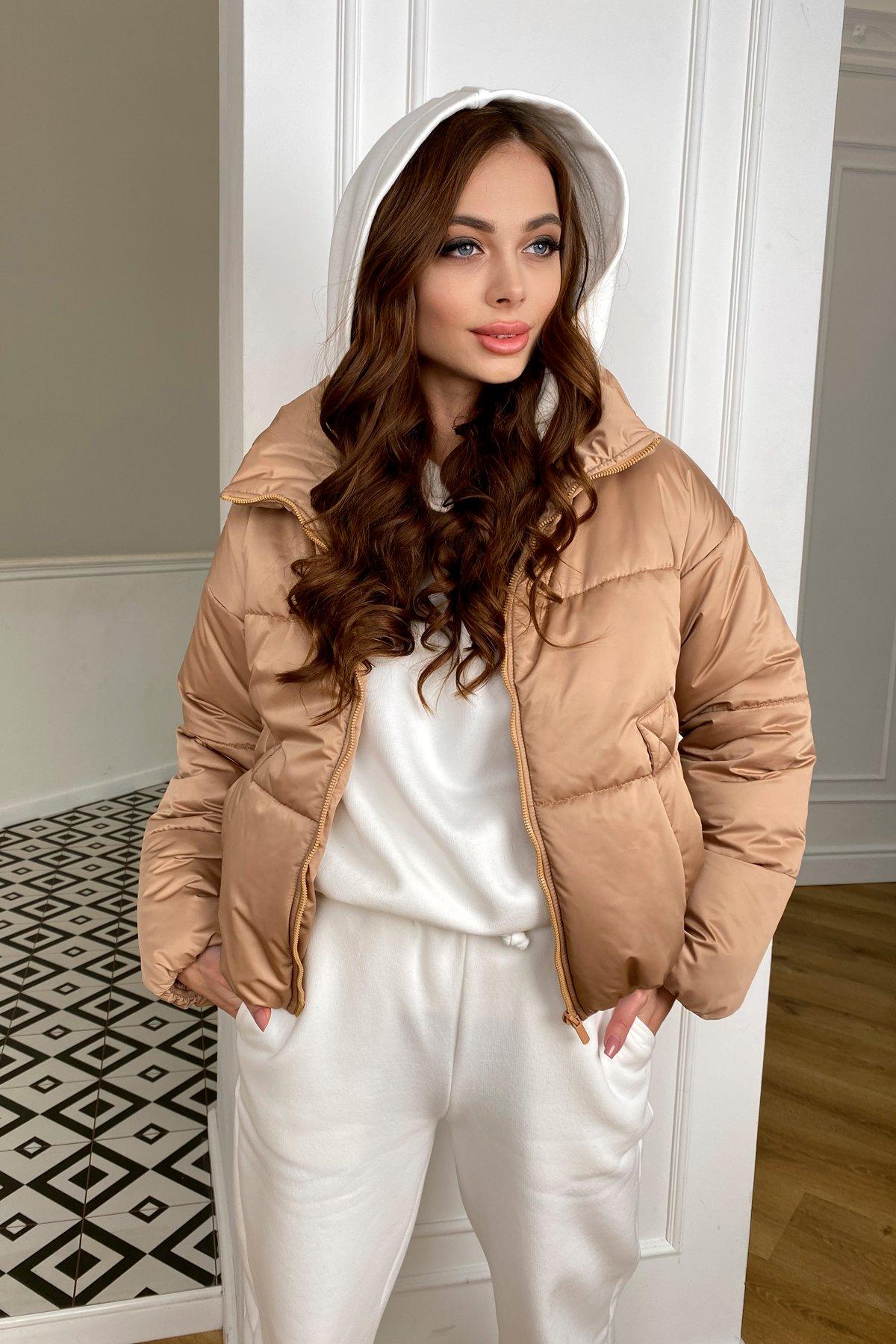 Драйв куртка из плащевой матовой ткани  10232 АРТ. 46523 Цвет: Кемел - фото 4, интернет магазин tm-modus.ru