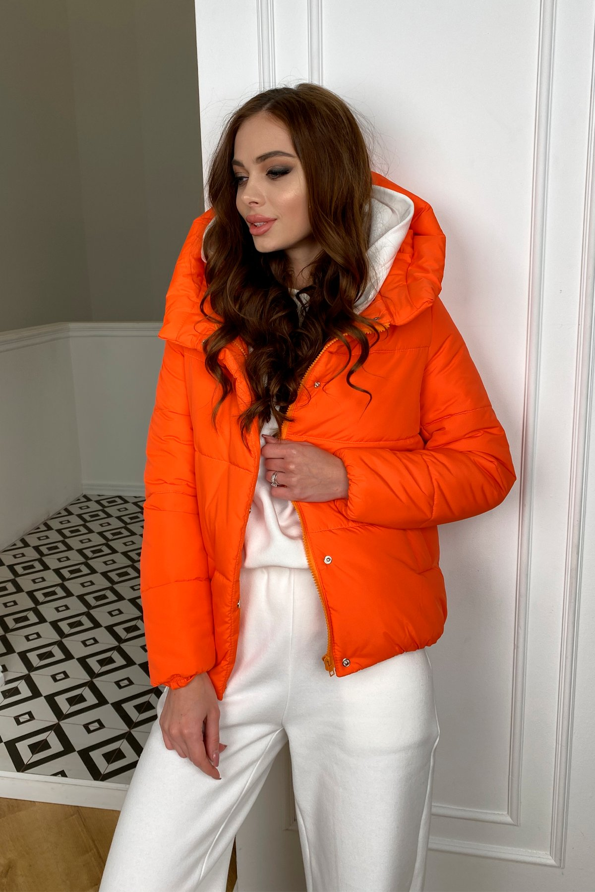 Рито  куртка из плащевой ткани Ammy  10443 АРТ. 46762 Цвет: Оранжевый 788 - фото 5, интернет магазин tm-modus.ru
