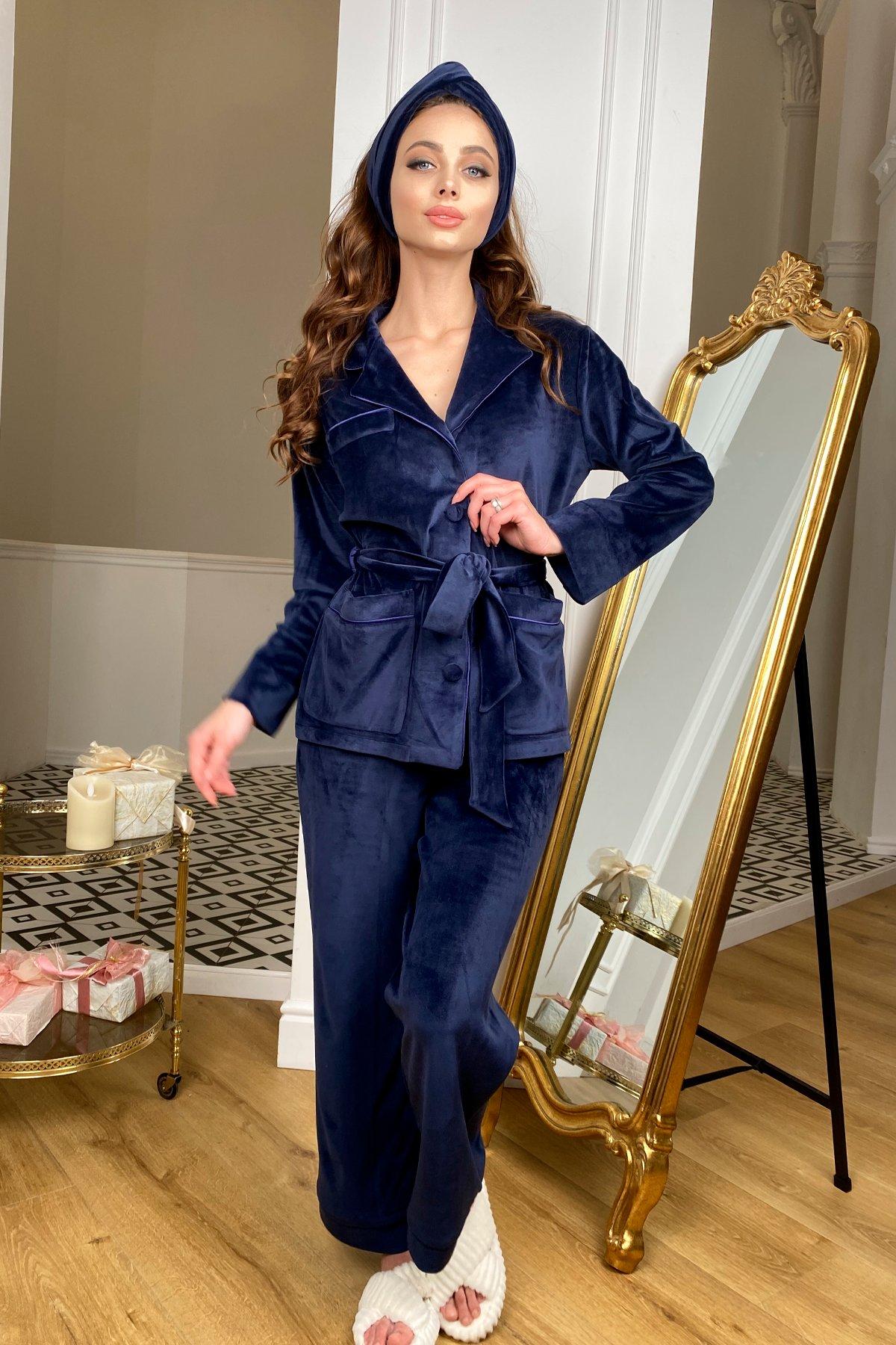 Женские костюмы оптом от производителя Modus Шайн пижама велюр жакет брюки маска для сна 10353