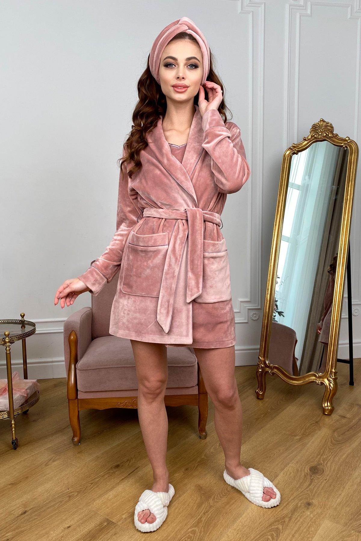Женская одежда оптом Украина Modus Сандрин халат  велюр   атлас 10466