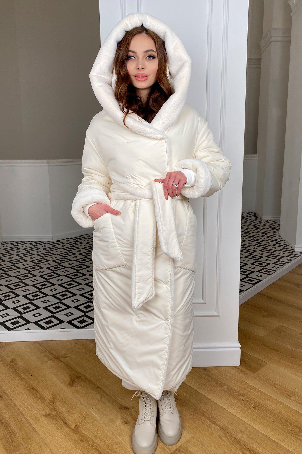 купить куртки женские Сноу  теплое двухстороннее пальто из  еко меха и плотной  плащевки 9956