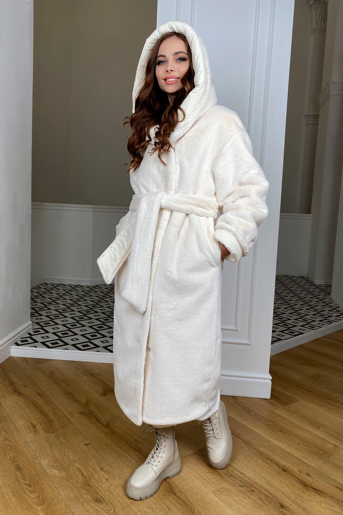 Сноу  теплое двухстороннее пальто из  еко меха и плотной  плащевки 9956 АРТ. 46669 Цвет: Молоко/Молоко 6 - фото 9, интернет магазин tm-modus.ru