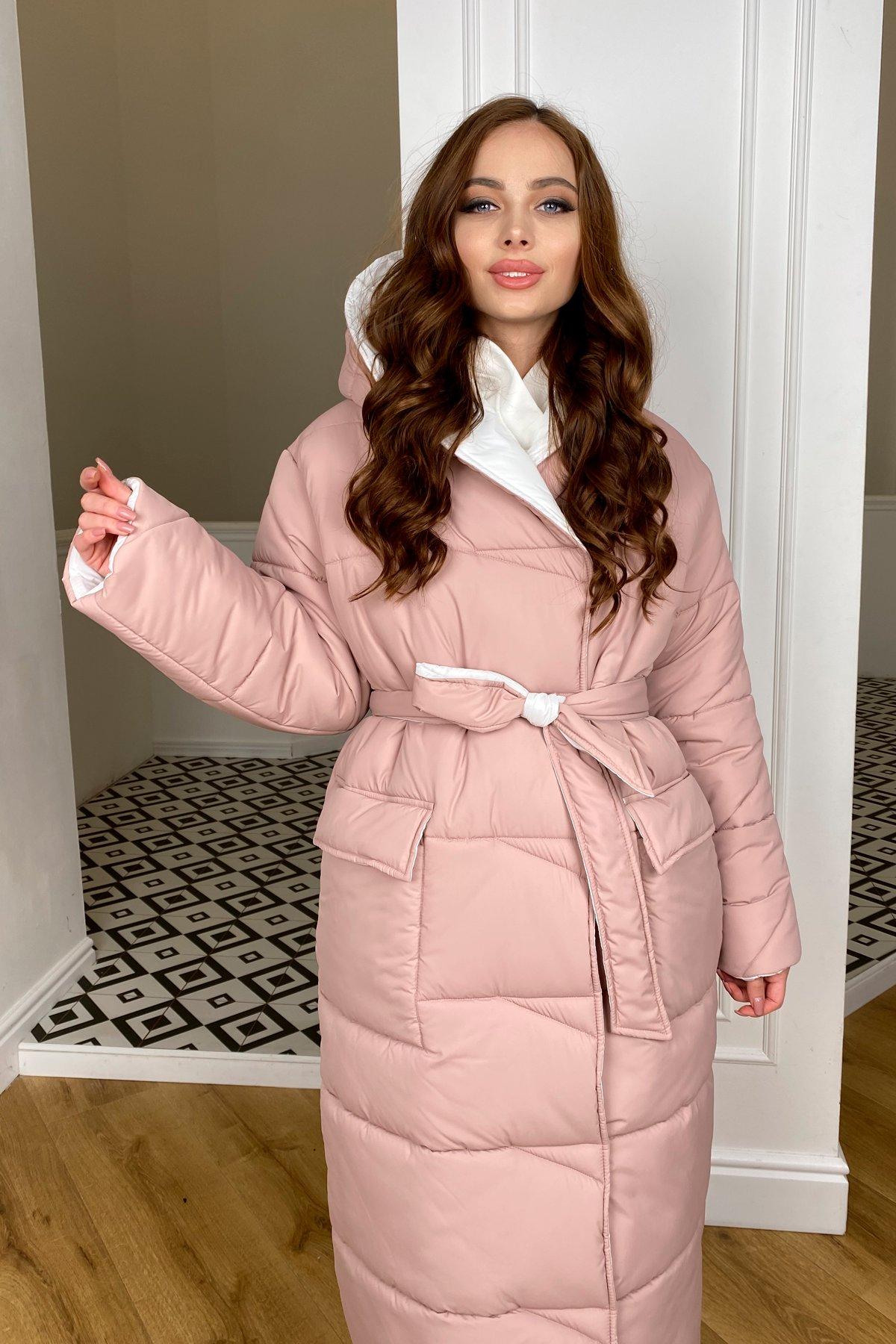 купить куртки женские Блу пуховик из плащевой ткани Ammy  10262