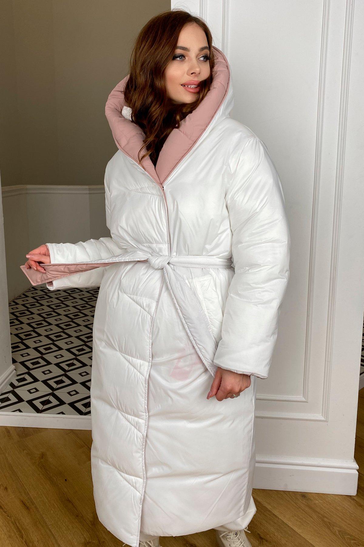 Блу пуховик из плащевой ткани Ammy  10262 АРТ. 46738 Цвет: Пудра/молоко - фото 6, интернет магазин tm-modus.ru