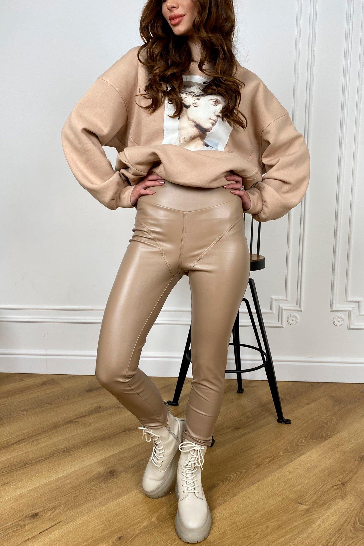 женские штаны  Миччи   леггинсы из экокожи  10476