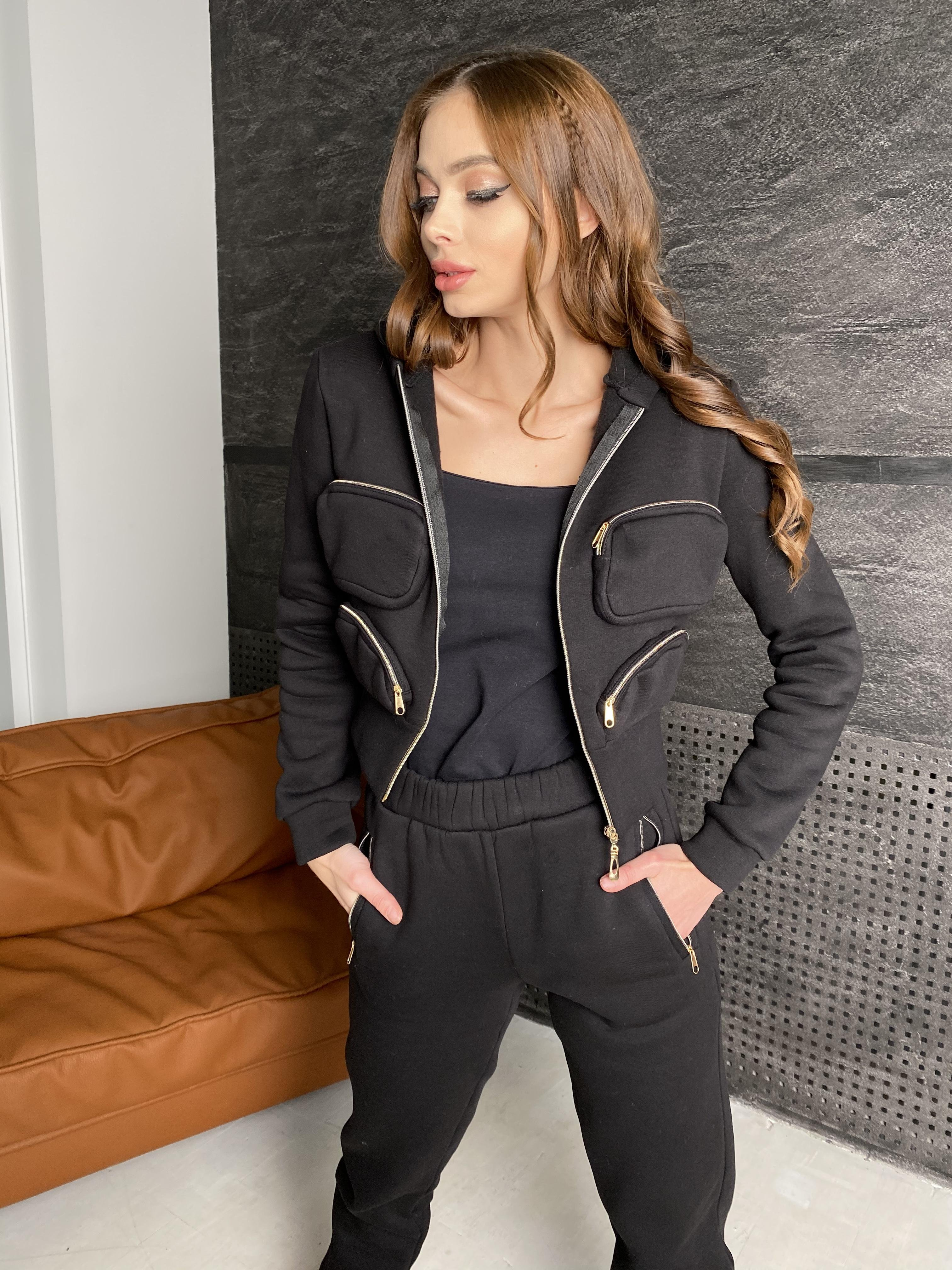 Зохо  костюм  3х нитка с начесом  10031 АРТ. 46323 Цвет: Черный - фото 3, интернет магазин tm-modus.ru