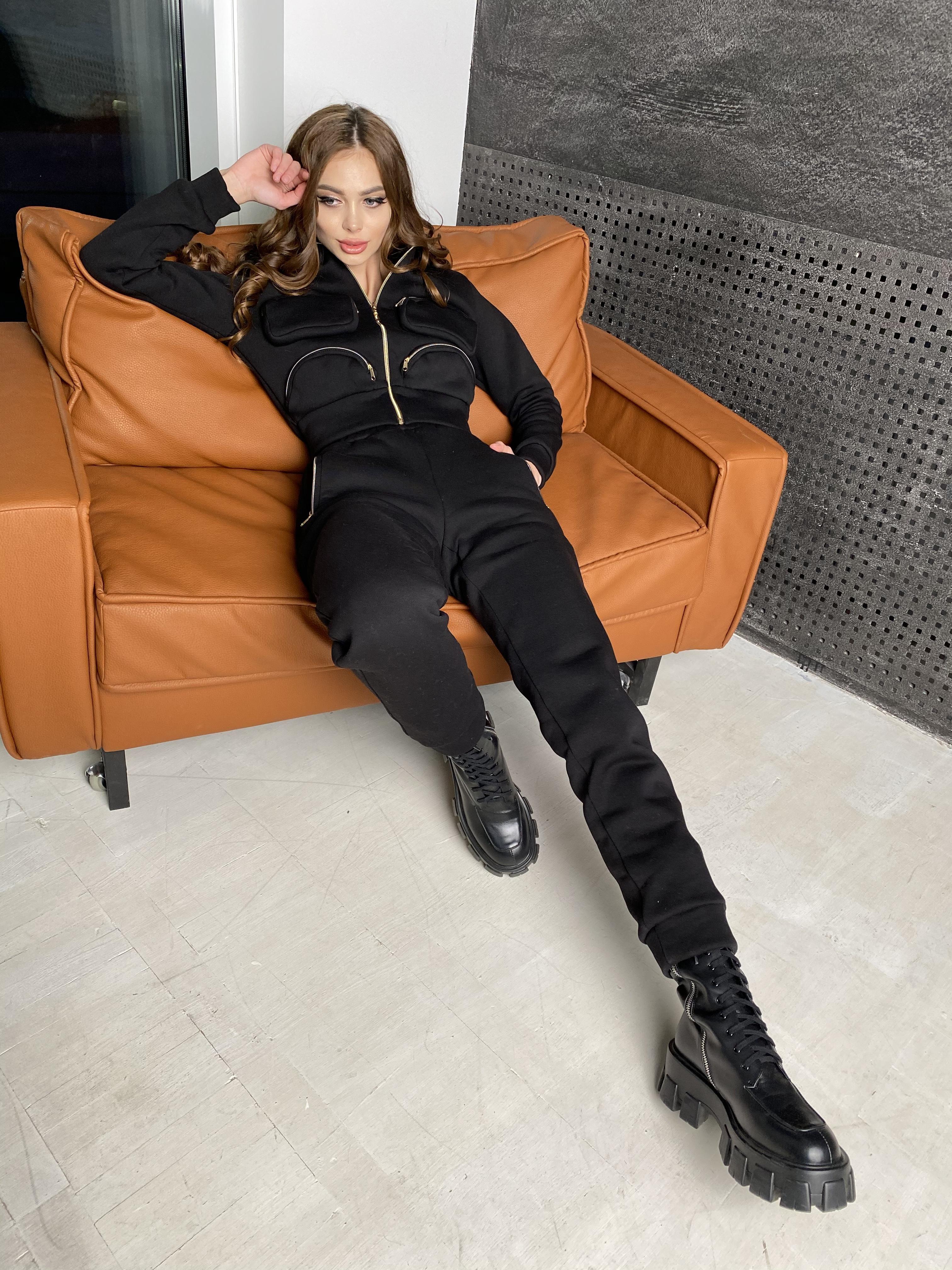 Зохо  костюм  3х нитка с начесом  10031 АРТ. 46323 Цвет: Черный - фото 7, интернет магазин tm-modus.ru
