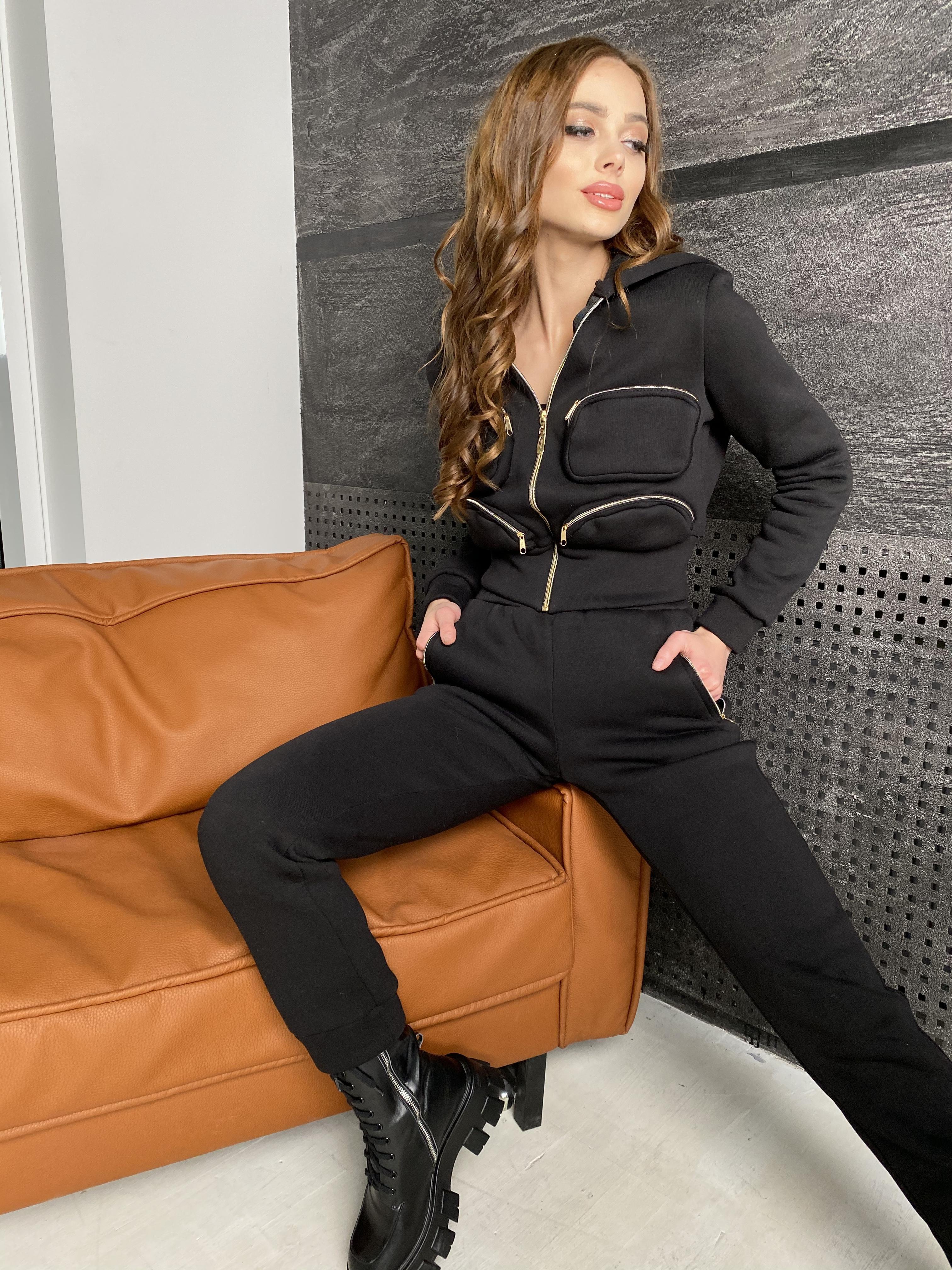 Зохо  костюм  3х нитка с начесом  10031 АРТ. 46323 Цвет: Черный - фото 8, интернет магазин tm-modus.ru