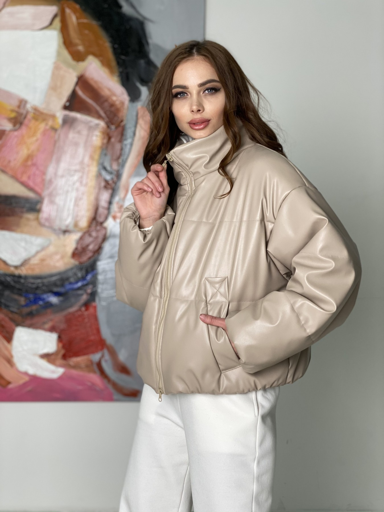куртки оптом от производителя  Драйв куртка из  экокожи  10499