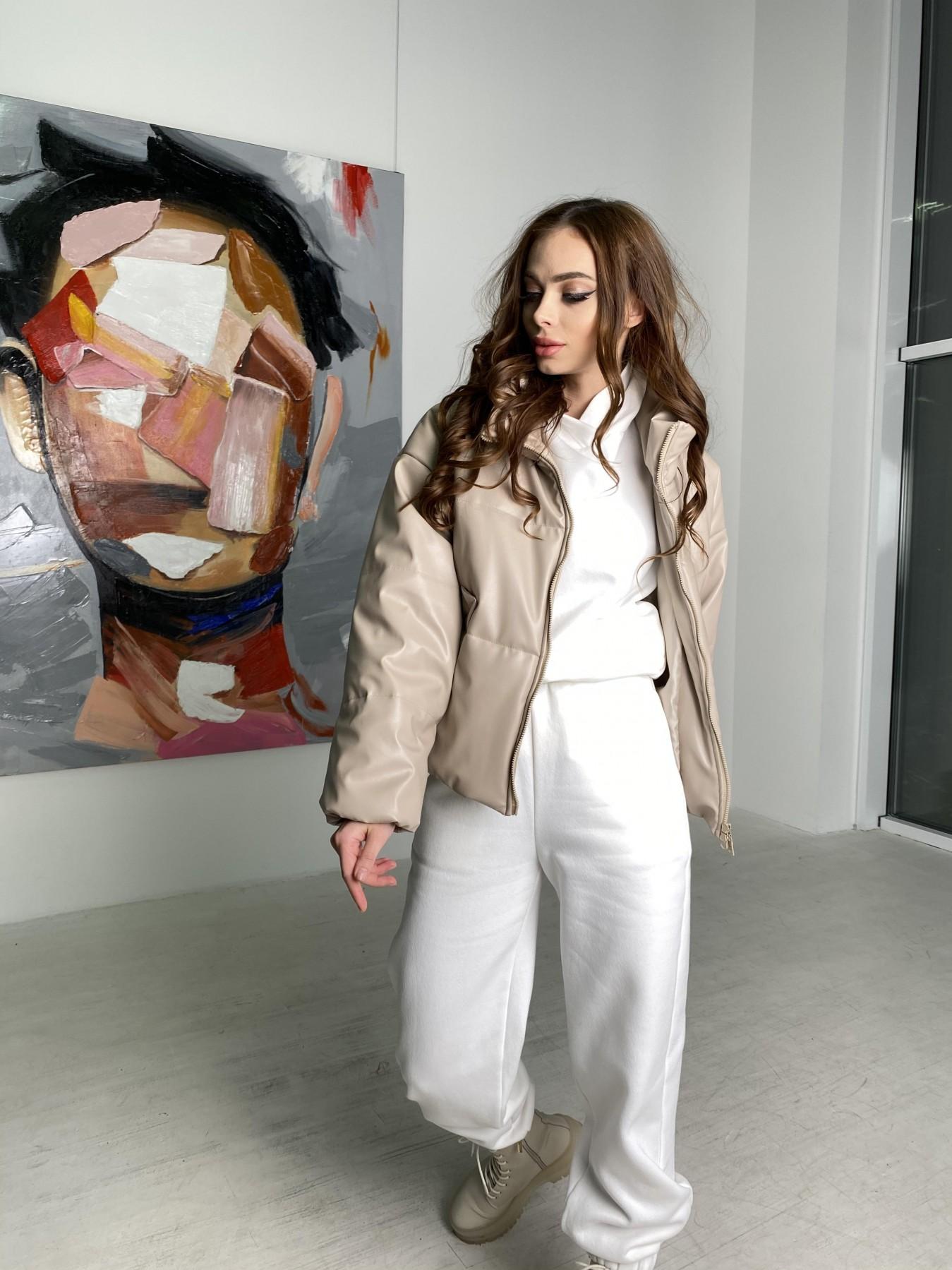 Драйв куртка из  экокожи  10499 АРТ. 46844 Цвет: Бежевый 2 - фото 4, интернет магазин tm-modus.ru