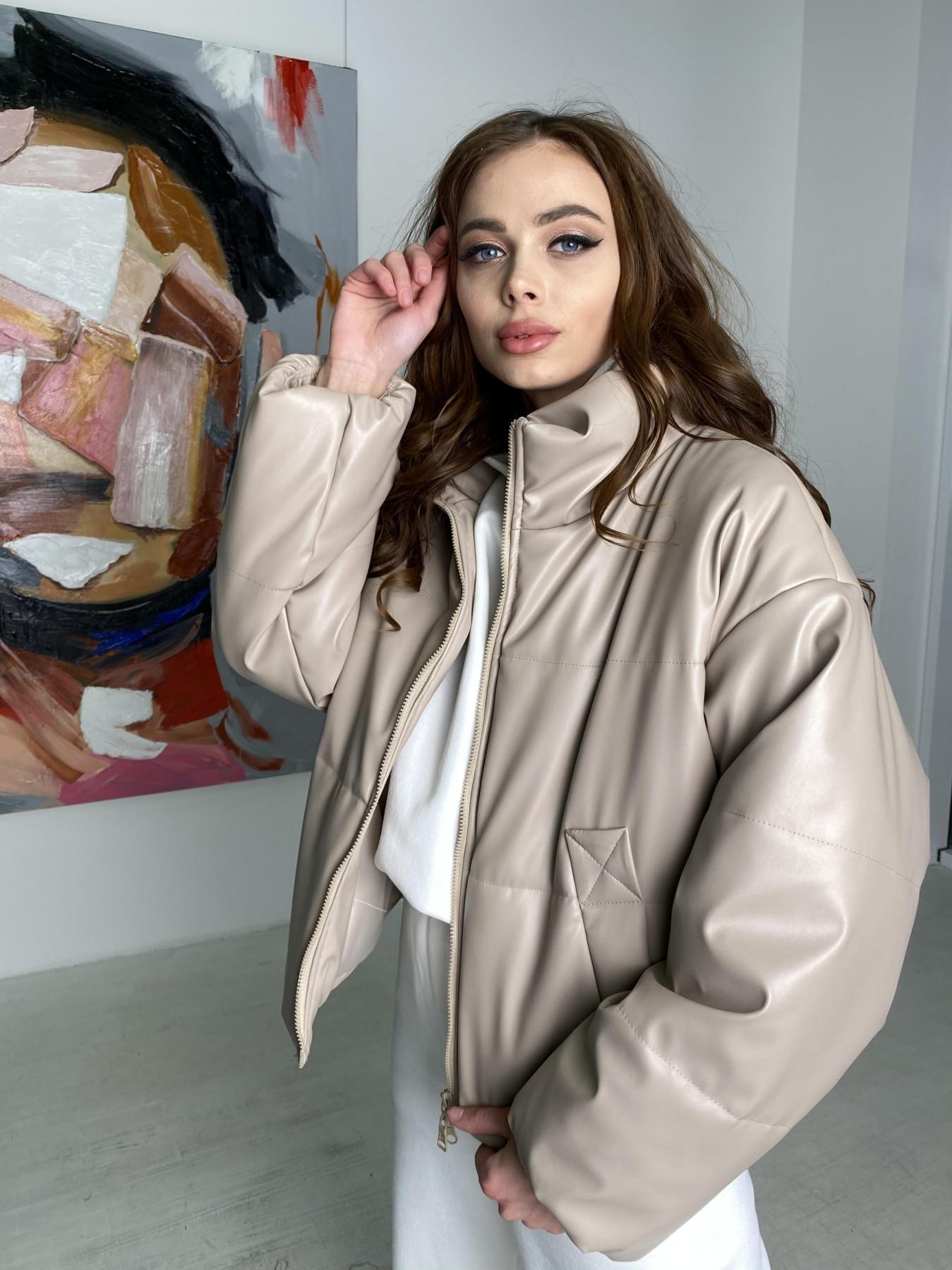 Драйв куртка из  экокожи  10499 АРТ. 46844 Цвет: Бежевый 2 - фото 6, интернет магазин tm-modus.ru