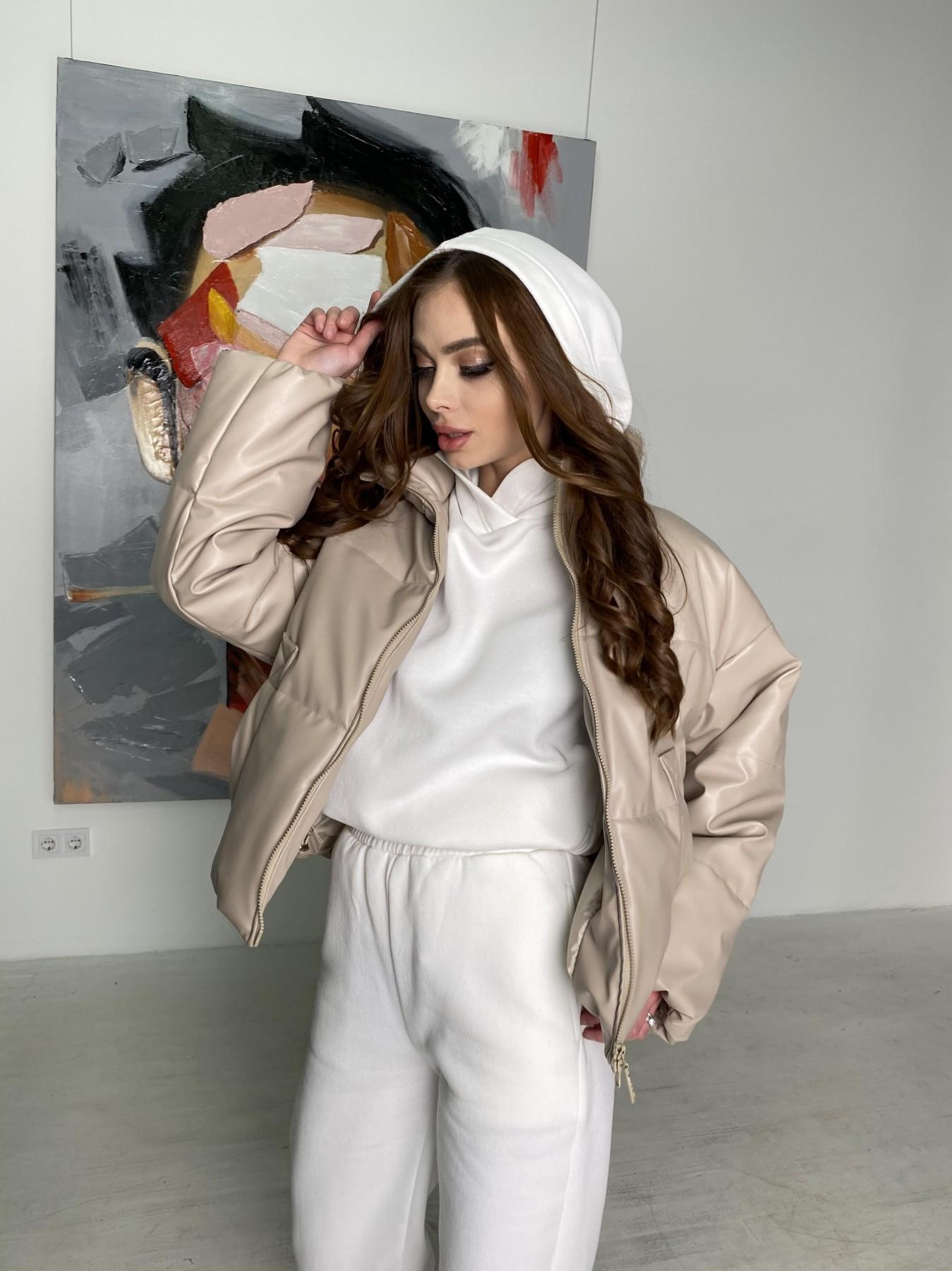 Драйв куртка из  экокожи  10499 АРТ. 46844 Цвет: Бежевый 2 - фото 7, интернет магазин tm-modus.ru