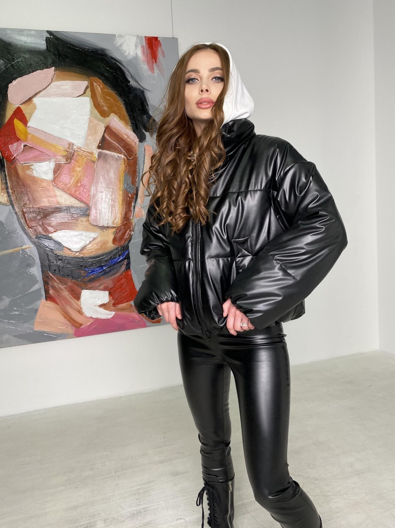 Драйв куртка из  экокожи  10499 АРТ. 46845 Цвет: Черный - фото 6, интернет магазин tm-modus.ru