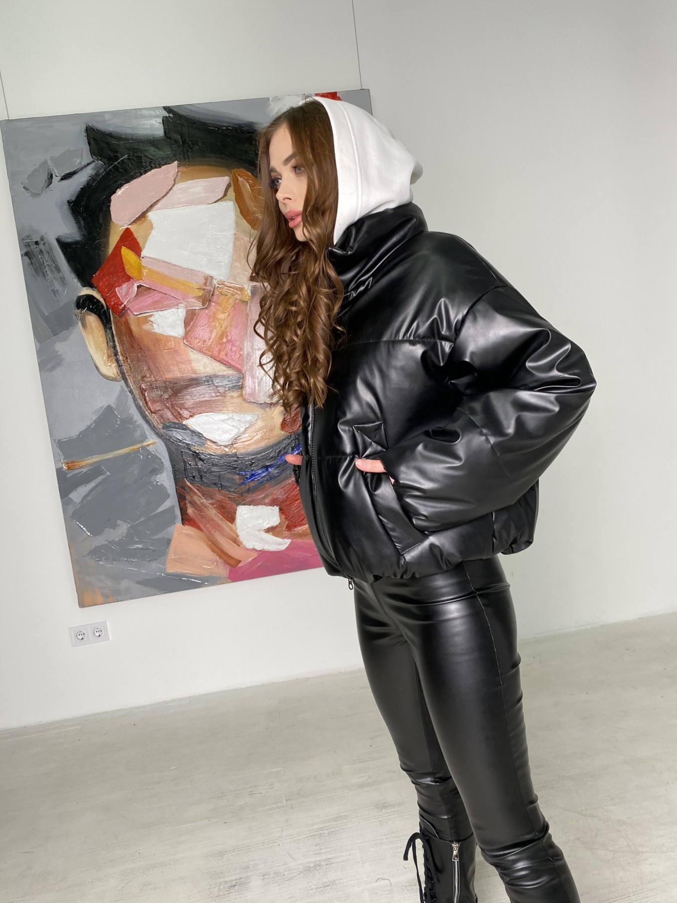 Драйв куртка из  экокожи  10499 АРТ. 46845 Цвет: Черный - фото 7, интернет магазин tm-modus.ru