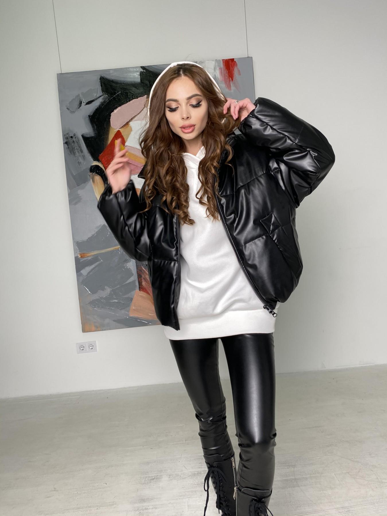 Драйв куртка из  экокожи  10499 АРТ. 46845 Цвет: Черный - фото 10, интернет магазин tm-modus.ru