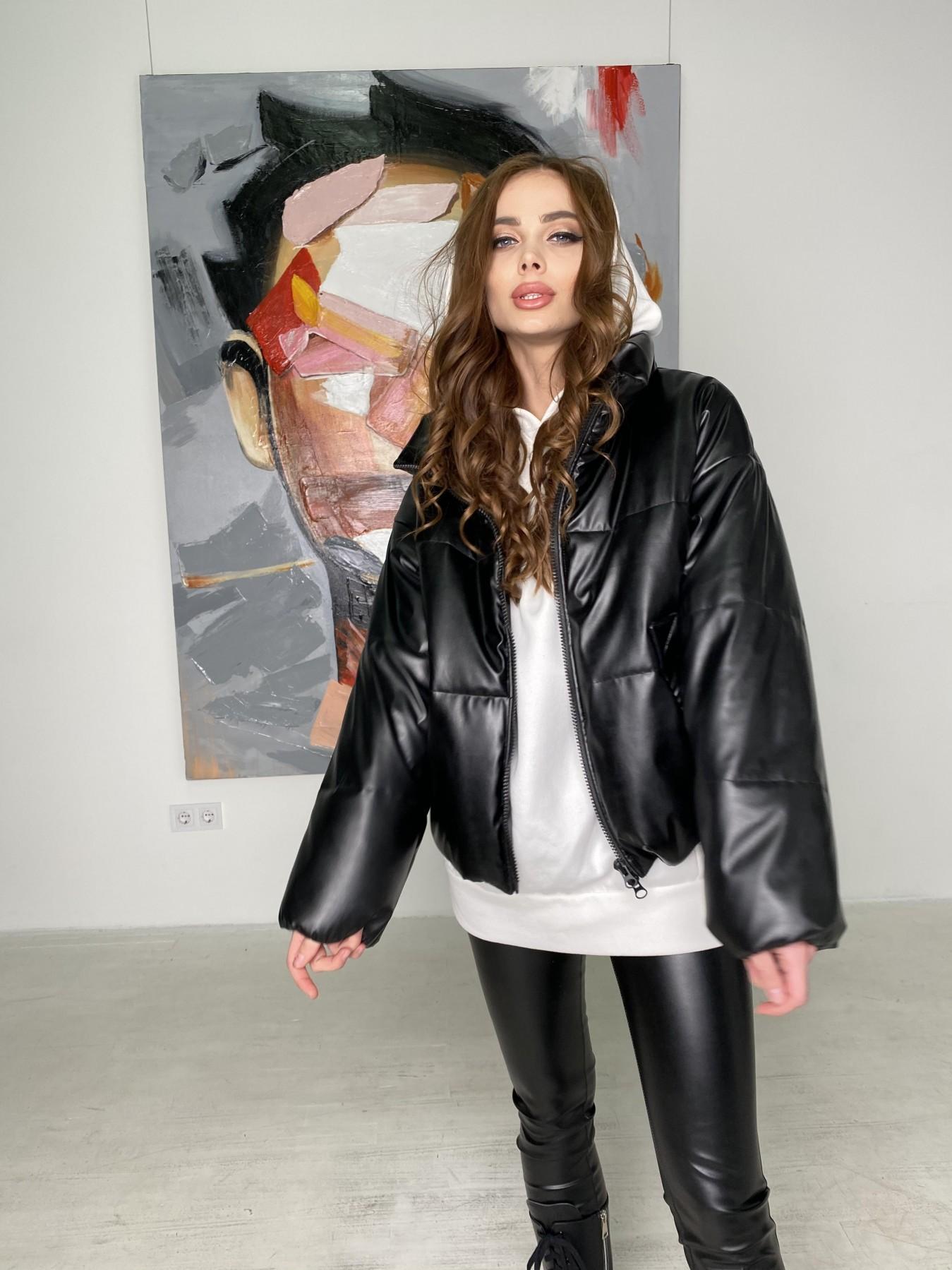 Драйв куртка из  экокожи  10499 АРТ. 46845 Цвет: Черный - фото 11, интернет магазин tm-modus.ru