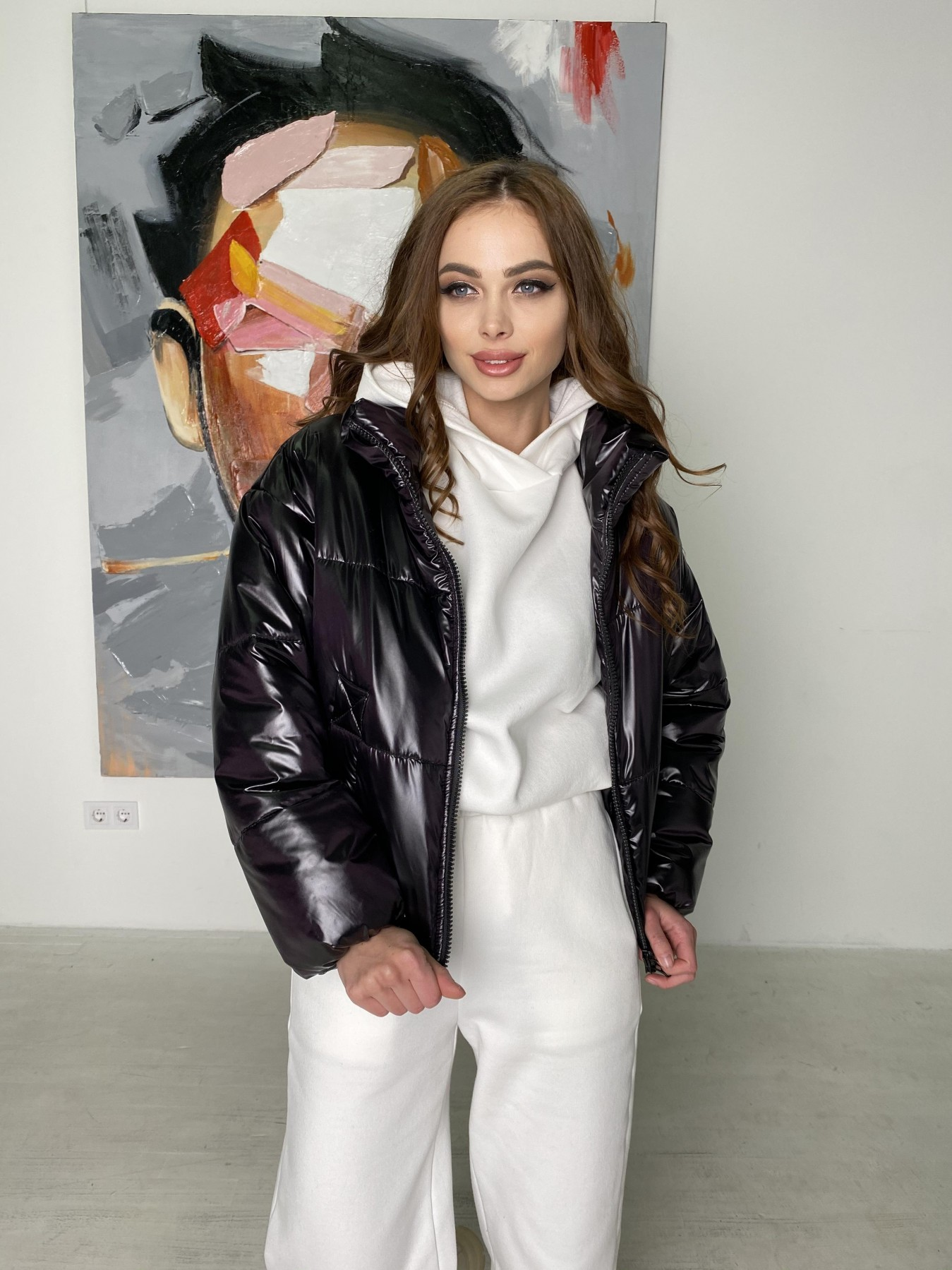 Драйв куртка из плащевой ткани 10497 АРТ. 46843 Цвет: Черный - фото 3, интернет магазин tm-modus.ru