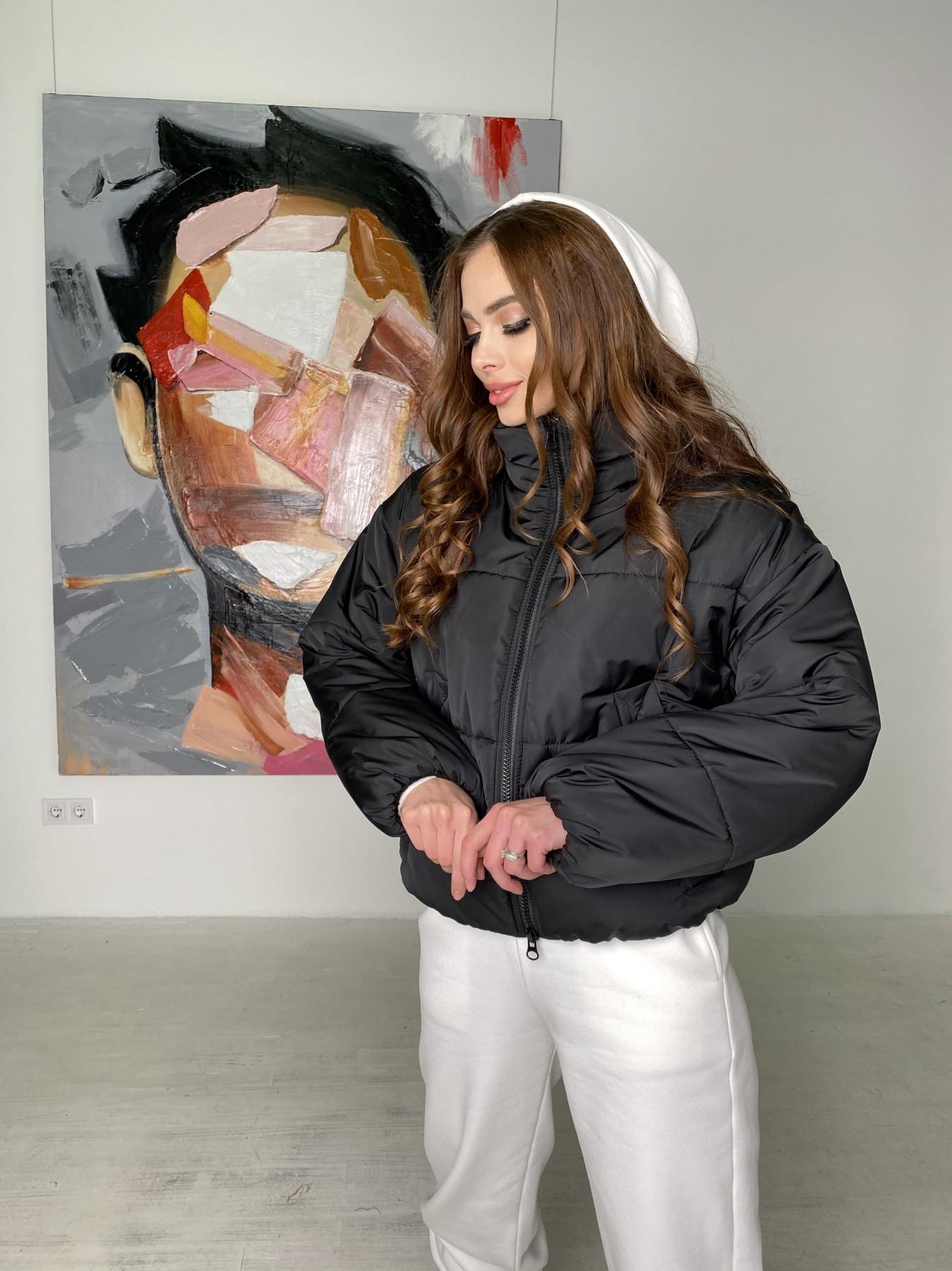 Драйв куртка из плащевой ткани 10448 АРТ. 46842 Цвет: Черный - фото 1, интернет магазин tm-modus.ru