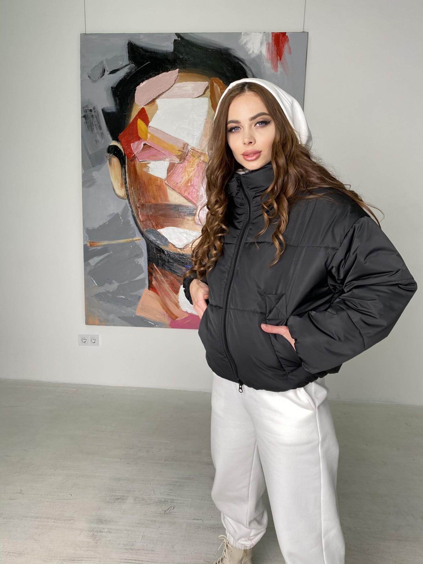 Драйв куртка из плащевой ткани 10448 АРТ. 46842 Цвет: Черный - фото 3, интернет магазин tm-modus.ru