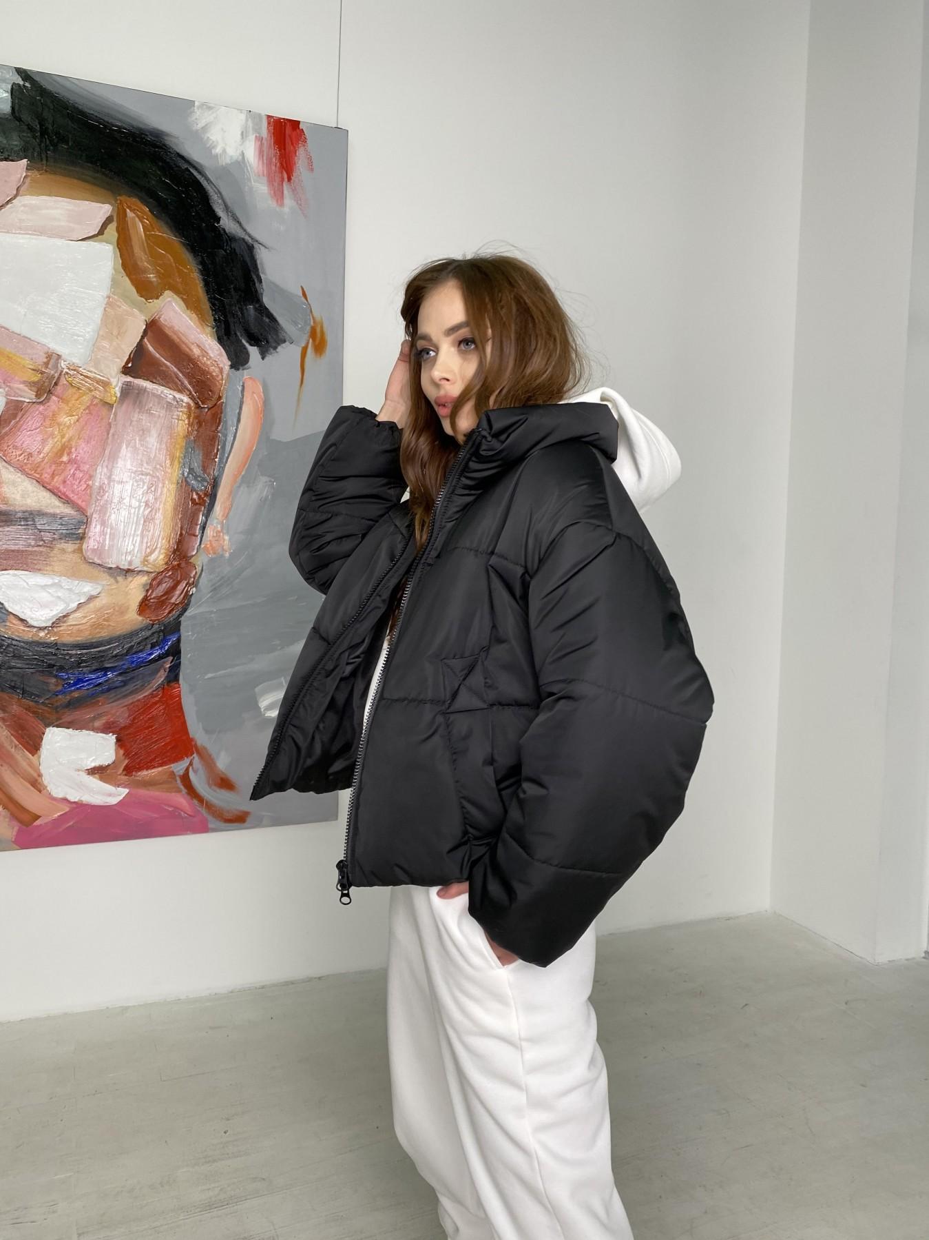 Драйв куртка из плащевой ткани 10448 АРТ. 46842 Цвет: Черный - фото 5, интернет магазин tm-modus.ru