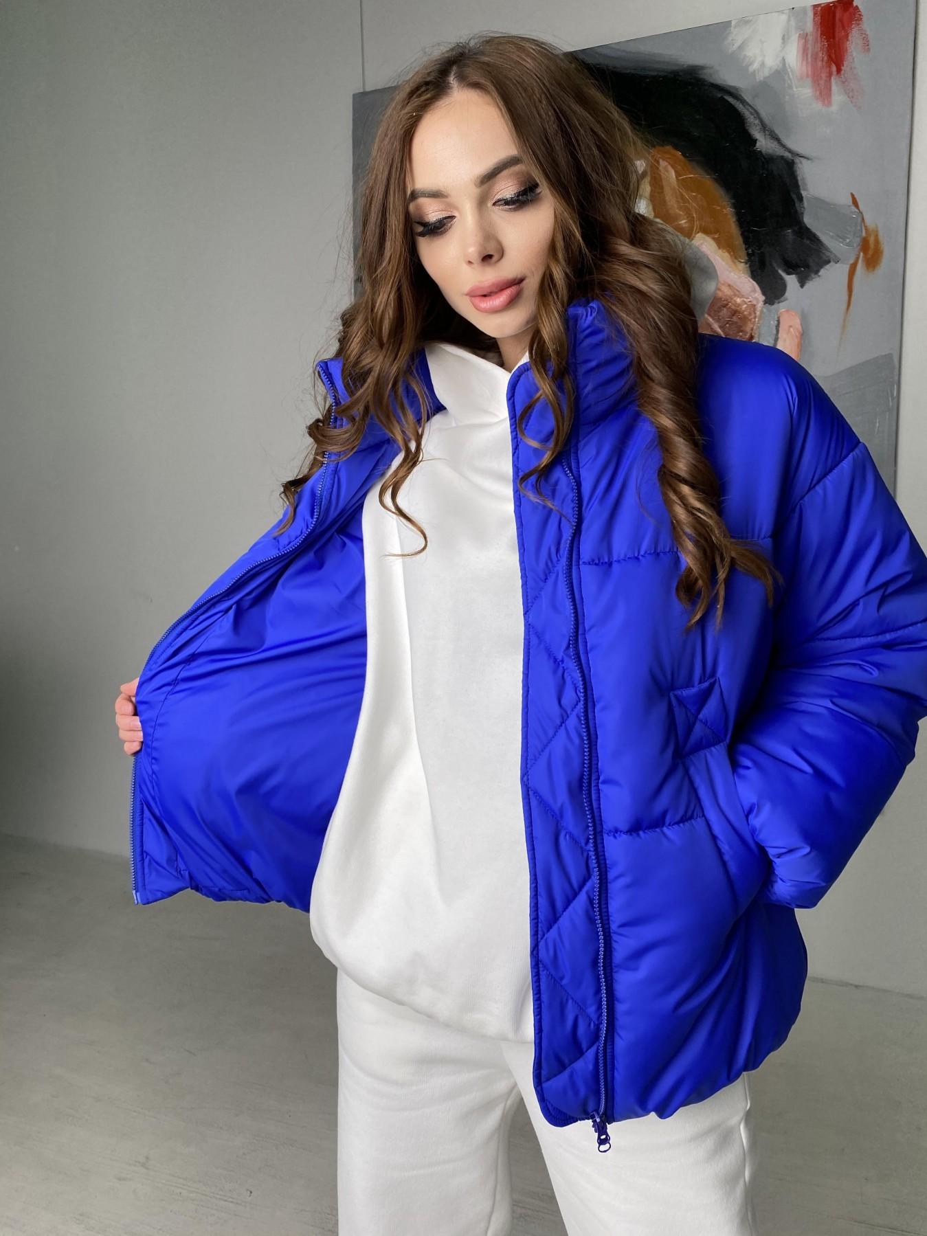 Муд куртка из плащевой ткани 10509 АРТ. 46852 Цвет: Электрик - фото 2, интернет магазин tm-modus.ru
