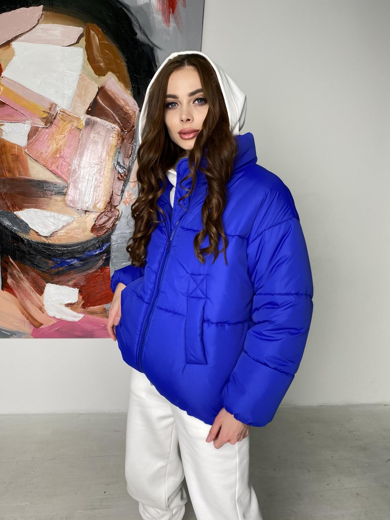 Муд куртка из плащевой ткани 10509 АРТ. 46852 Цвет: Электрик - фото 3, интернет магазин tm-modus.ru