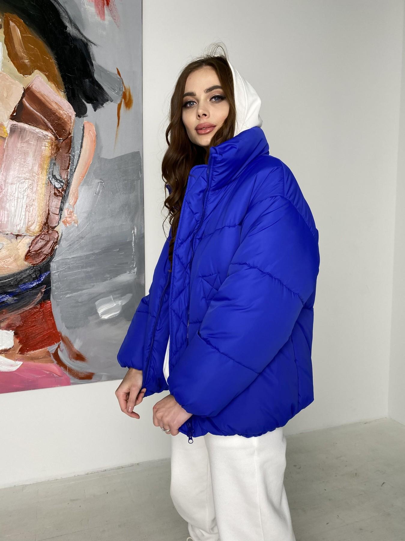 Муд куртка из плащевой ткани 10509 АРТ. 46852 Цвет: Электрик - фото 5, интернет магазин tm-modus.ru
