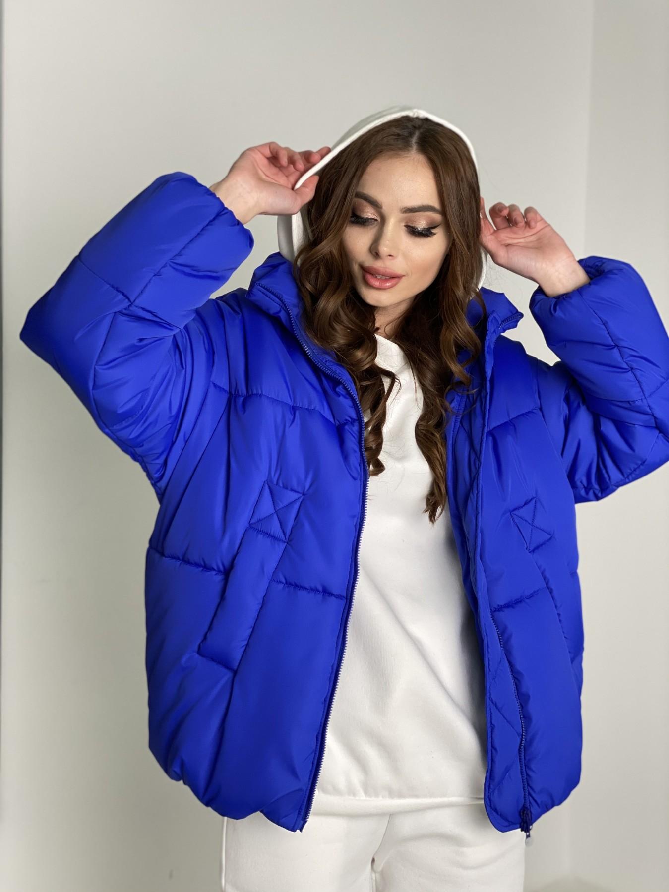 Муд куртка из плащевой ткани 10509 АРТ. 46852 Цвет: Электрик - фото 7, интернет магазин tm-modus.ru