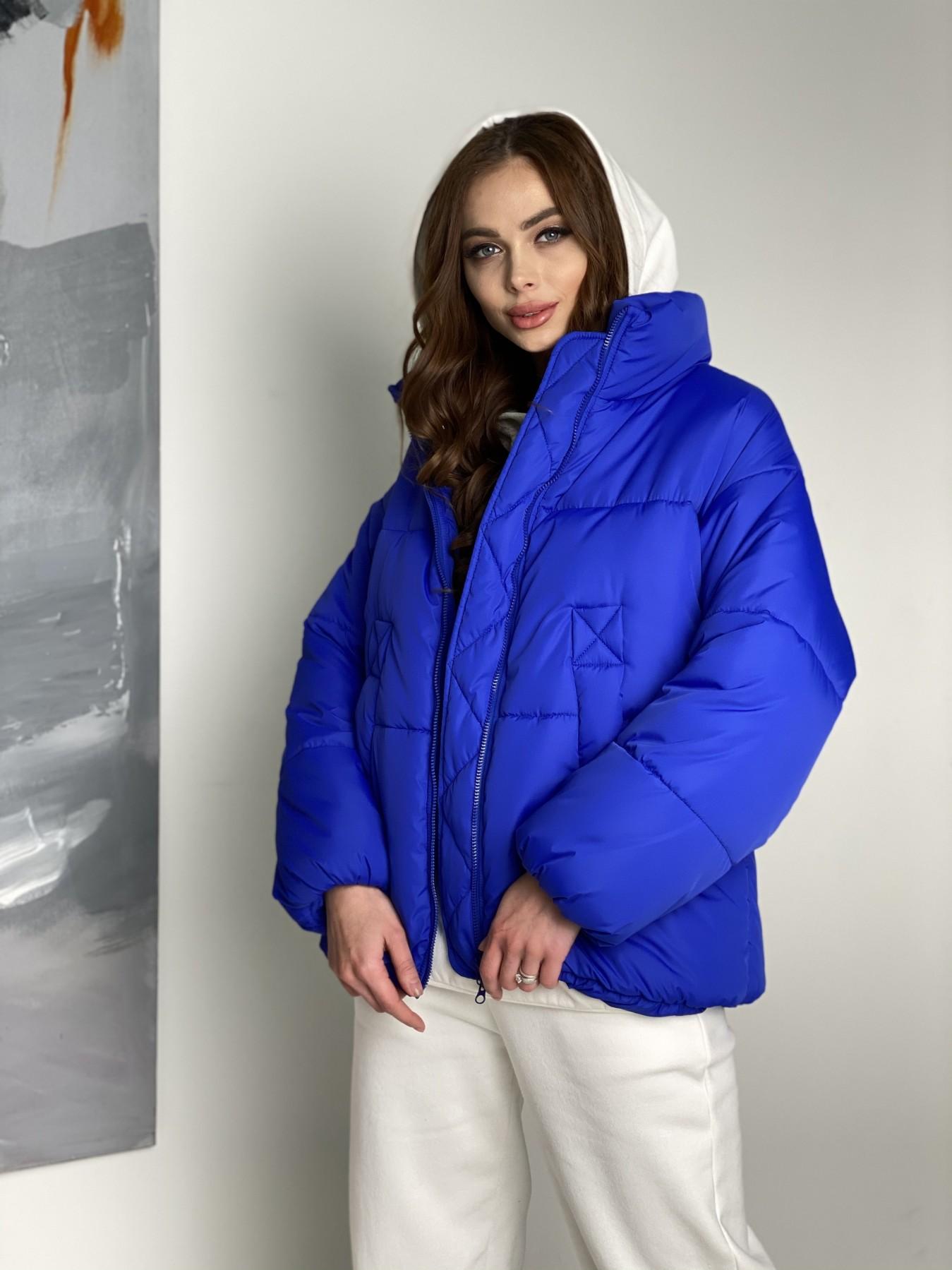 Муд куртка из плащевой ткани 10509 АРТ. 46852 Цвет: Электрик - фото 8, интернет магазин tm-modus.ru