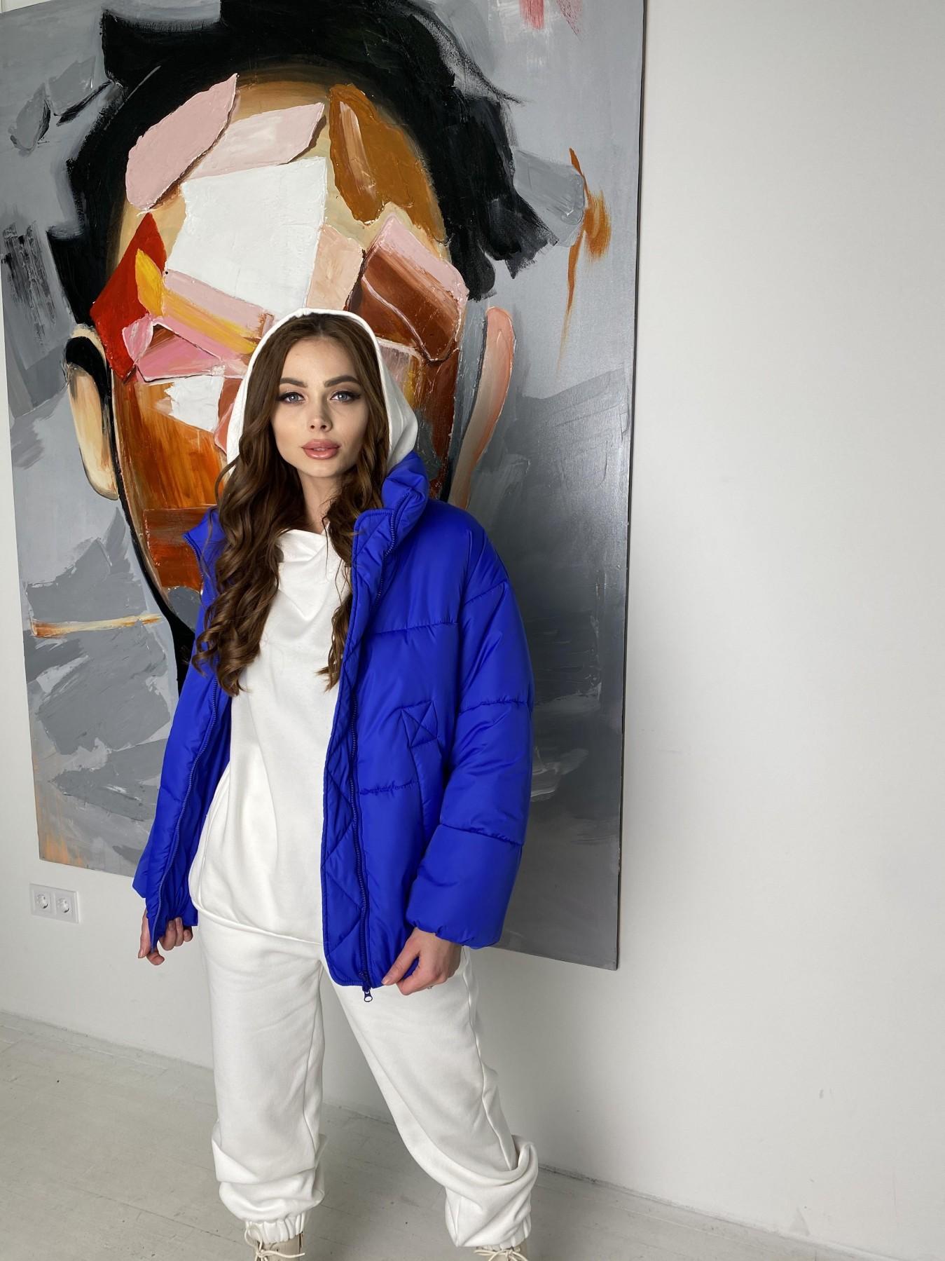 Муд куртка из плащевой ткани 10509 АРТ. 46852 Цвет: Электрик - фото 9, интернет магазин tm-modus.ru