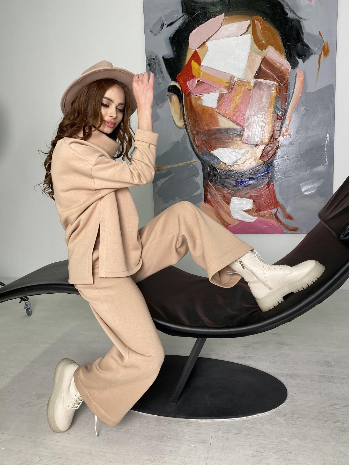 Джаст костюм на флисе 3х нитка 10513 АРТ. 46846 Цвет: Бежевый - фото 4, интернет магазин tm-modus.ru