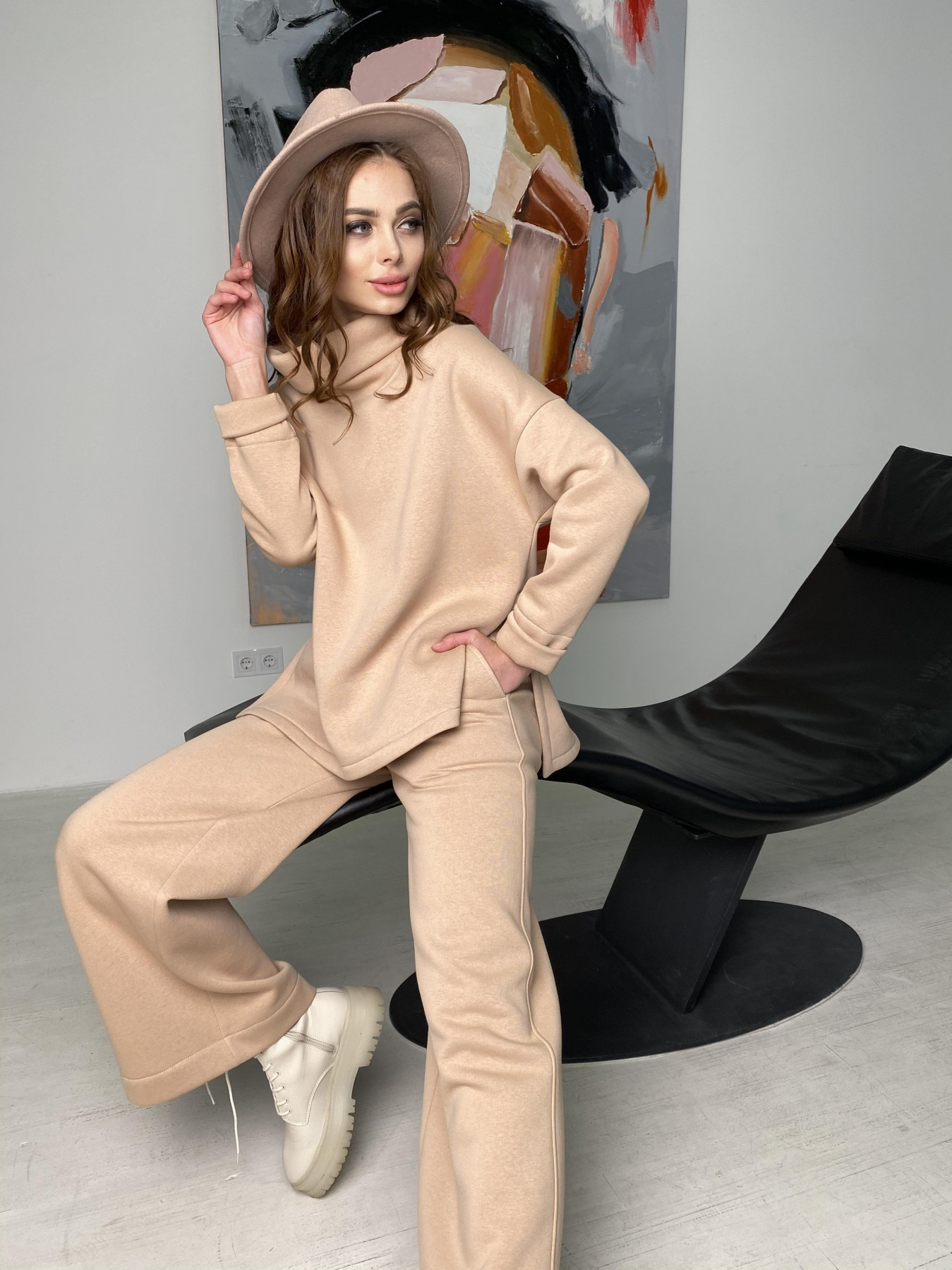 Джаст костюм на флисе 3х нитка 10513 АРТ. 46846 Цвет: Бежевый - фото 8, интернет магазин tm-modus.ru