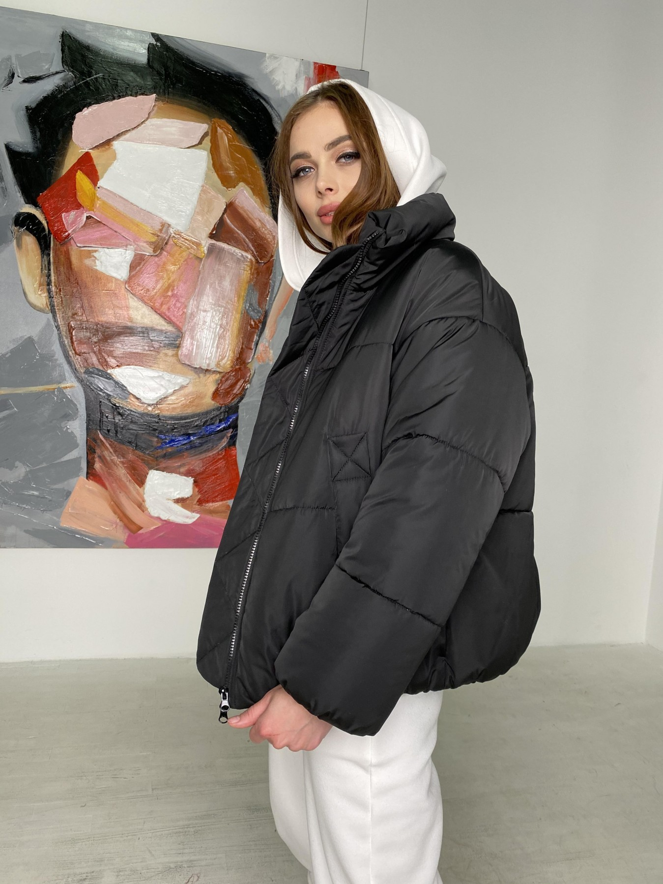 женские куртки оптом Муд куртка из плащевой ткани 10509