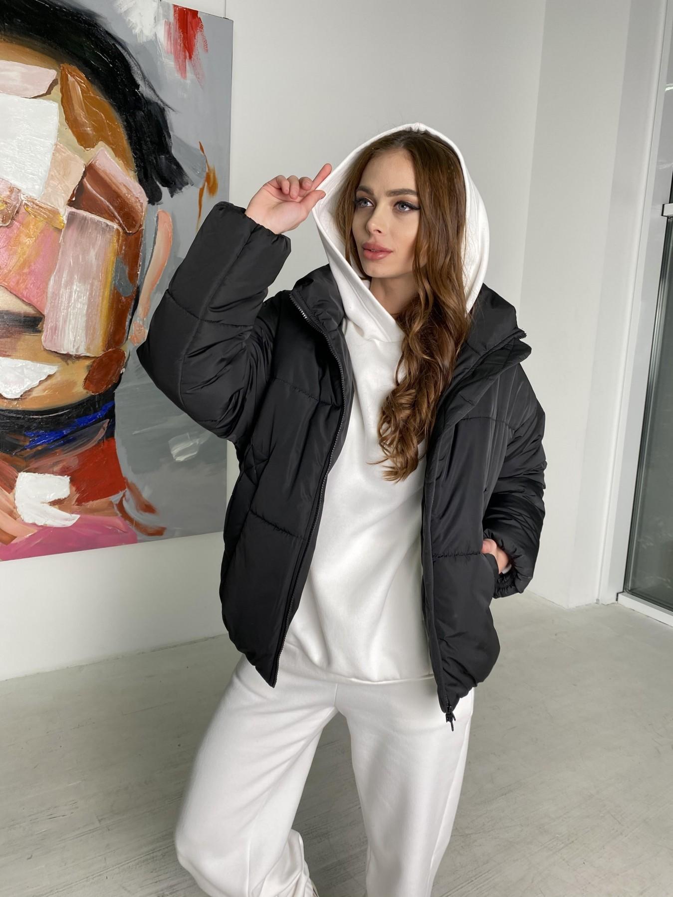 Муд куртка из плащевой ткани 10509 АРТ. 46854 Цвет: Черный - фото 8, интернет магазин tm-modus.ru