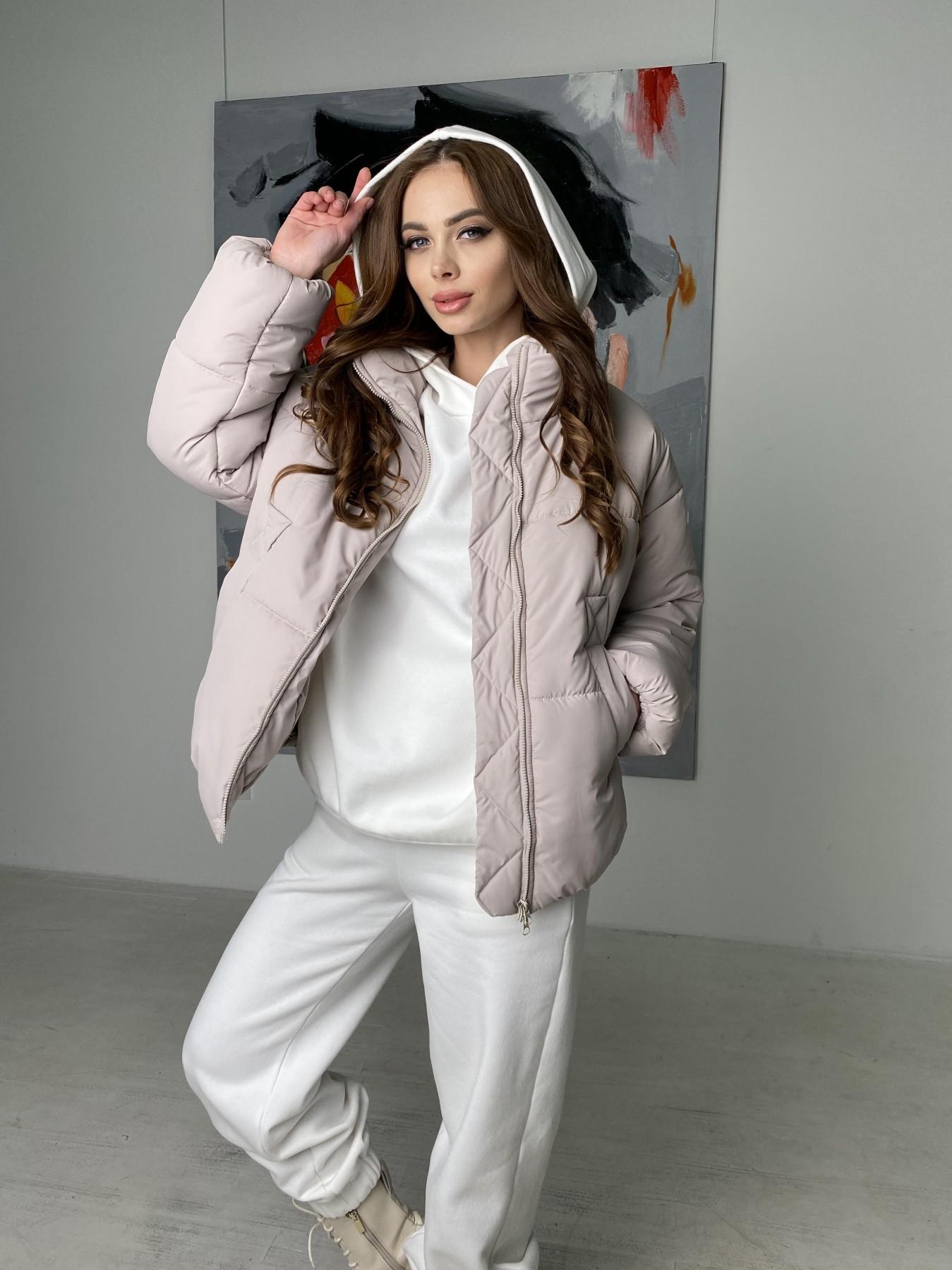 Муд куртка из плащевой ткани 10509 АРТ. 46853 Цвет: Бежевый 511 - фото 1, интернет магазин tm-modus.ru
