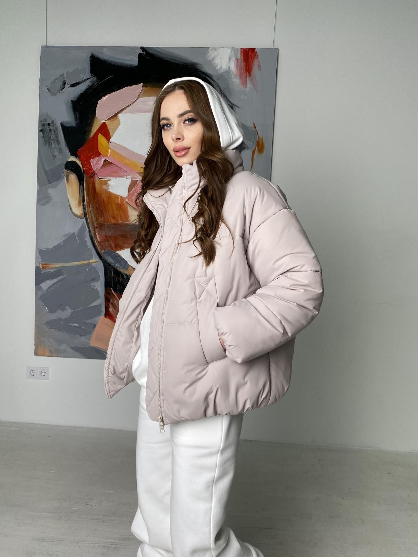 куртка пуховик женская Муд куртка из плащевой ткани 10509
