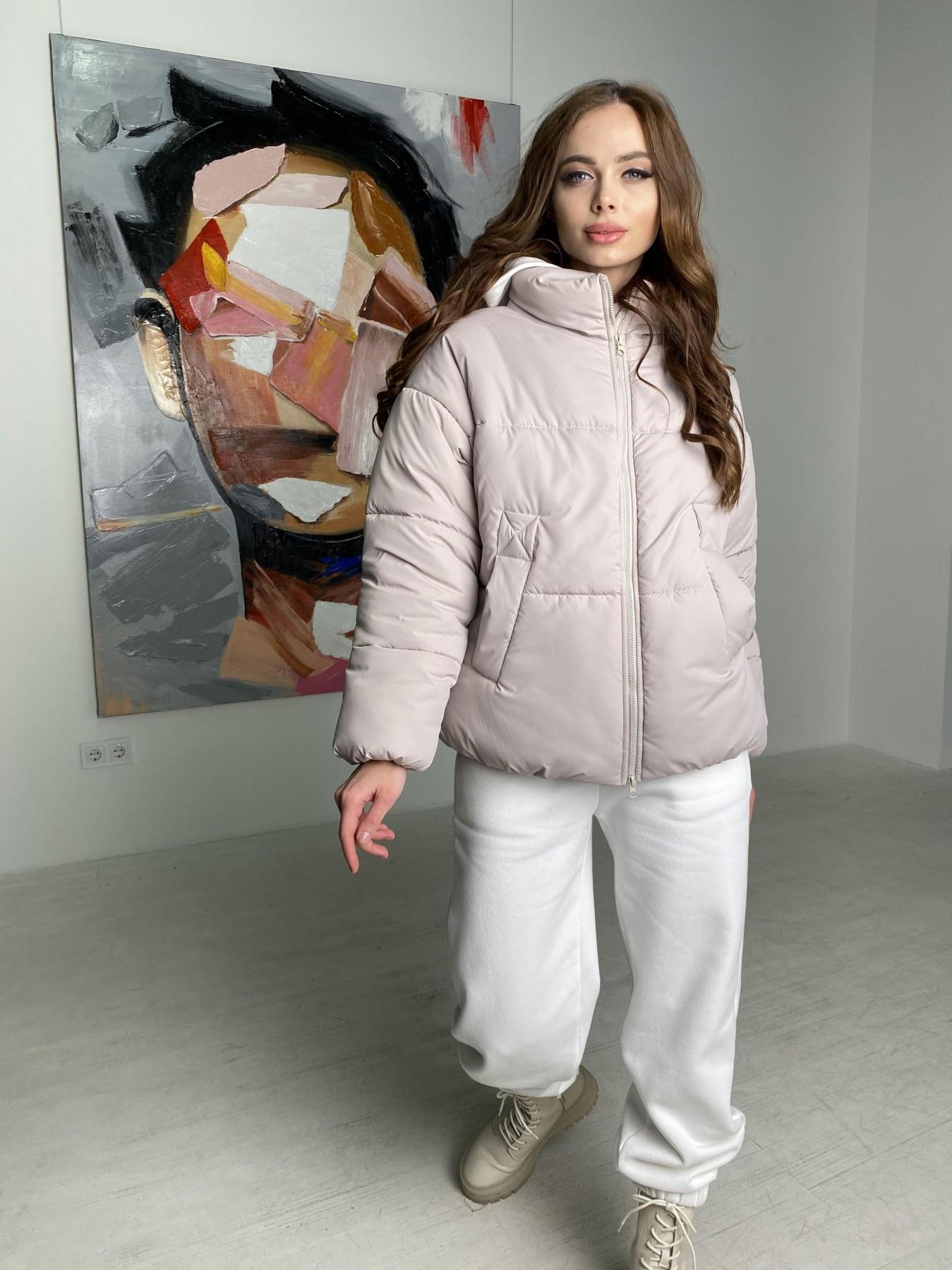 Муд куртка из плащевой ткани 10509 АРТ. 46853 Цвет: Бежевый 511 - фото 4, интернет магазин tm-modus.ru